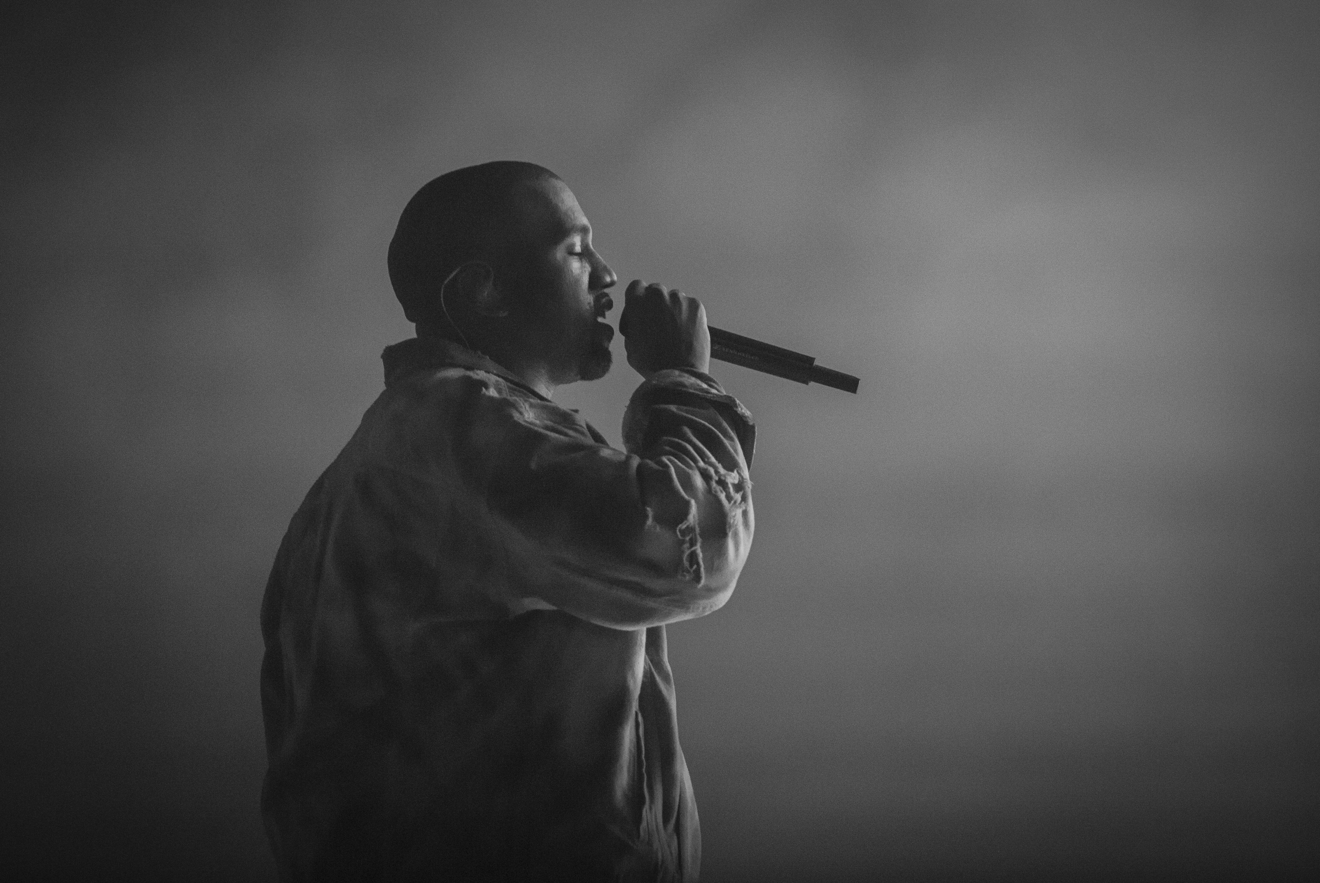 Kanye West performing live at the 2014 Outside Lands Music Festival in Golden Gate Park on Aug. 8, 2014.