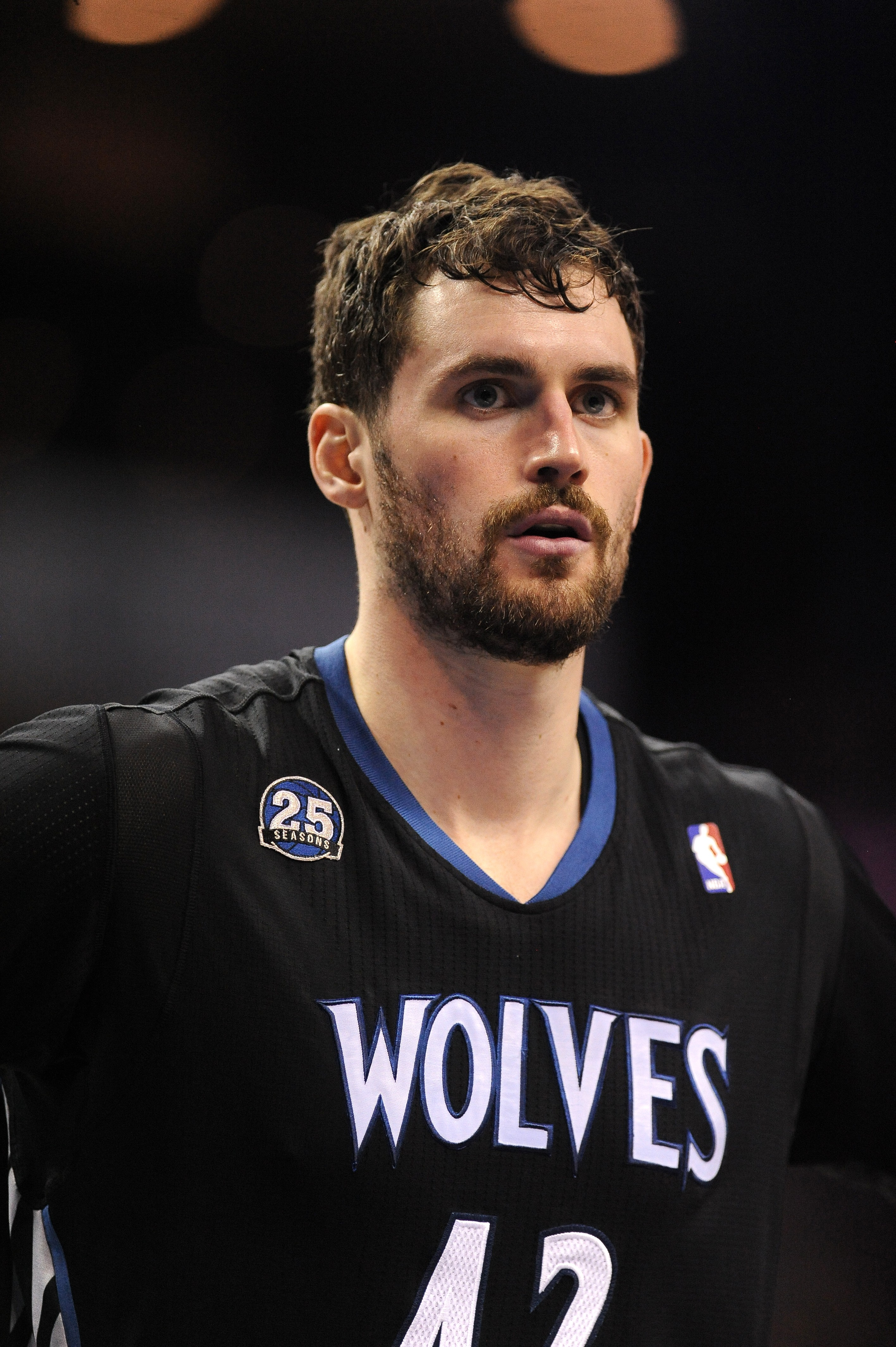 Kevin Love of the Minnesota Timberwolves during a NBA game between the Charlotte Bobcats and the Minnesota Timberwolves at the Time Warner Arena on March 14, 2014 in Charlotte, North Carolina