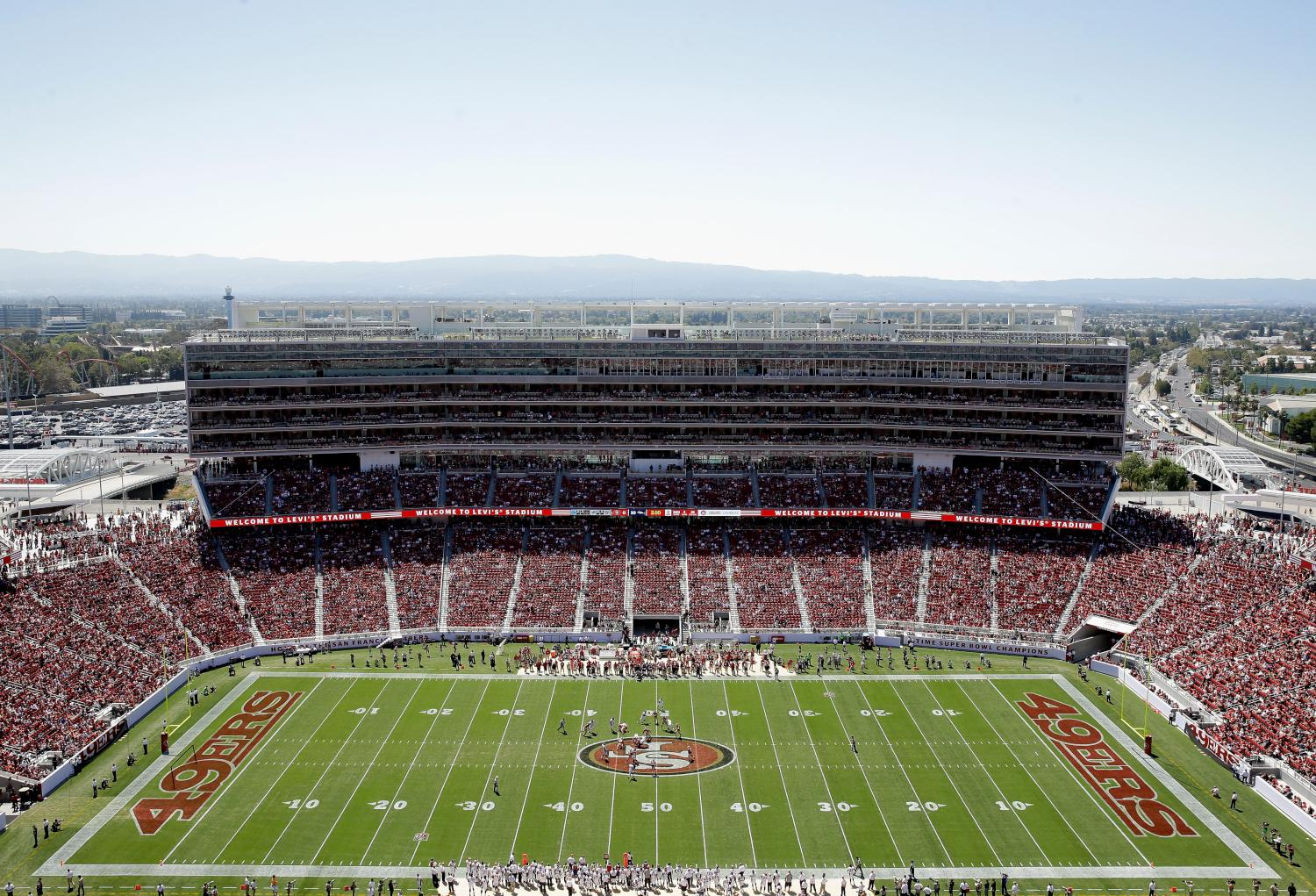 A general view during a preseason game between the San Francisco 49ers and Denver Broncos at Levi's Stadium on August 17, 2014 in Santa Clara, California
