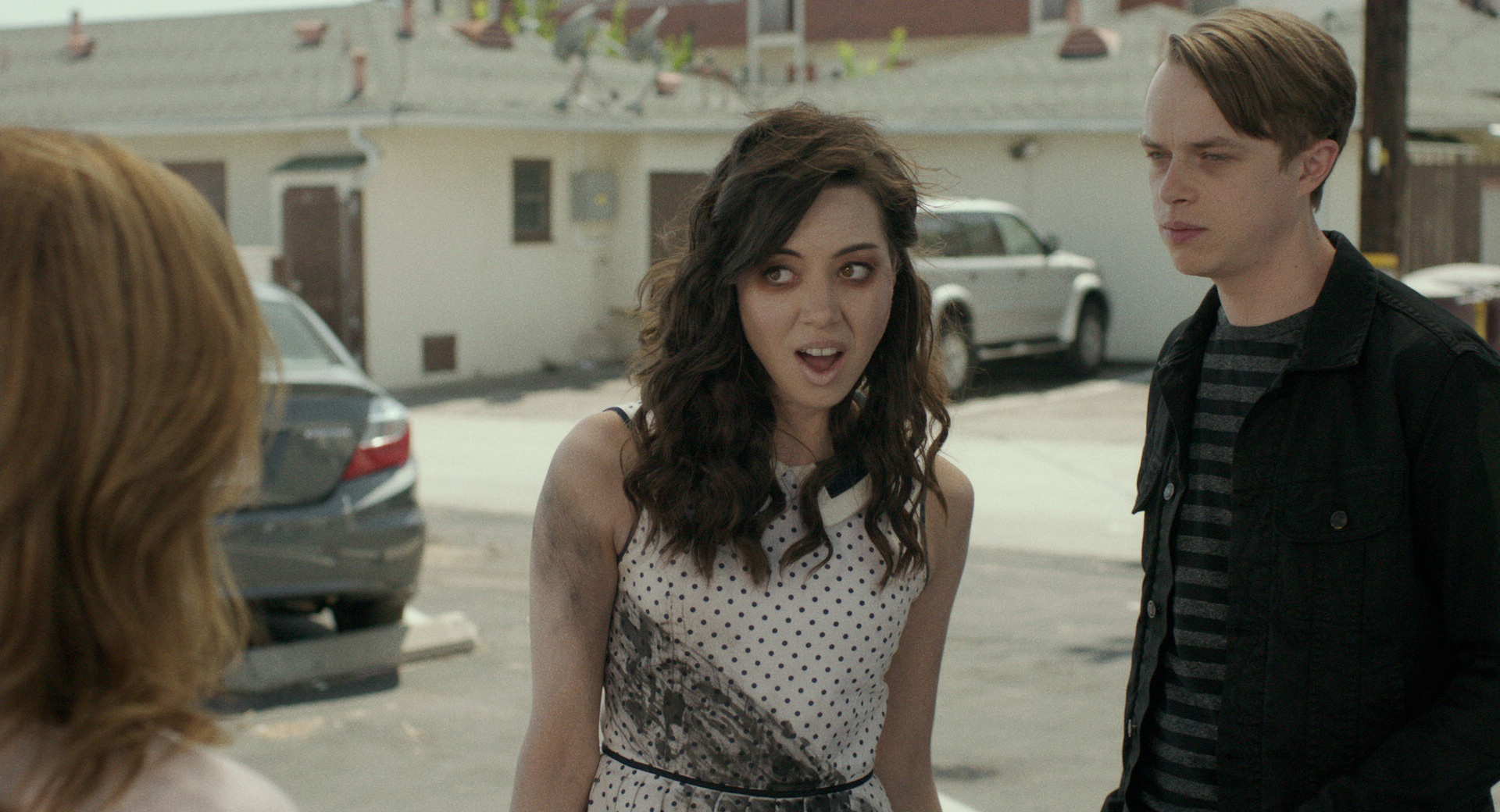 Aubrey Plaza, center, plays Beth Slocum in Life After Beth