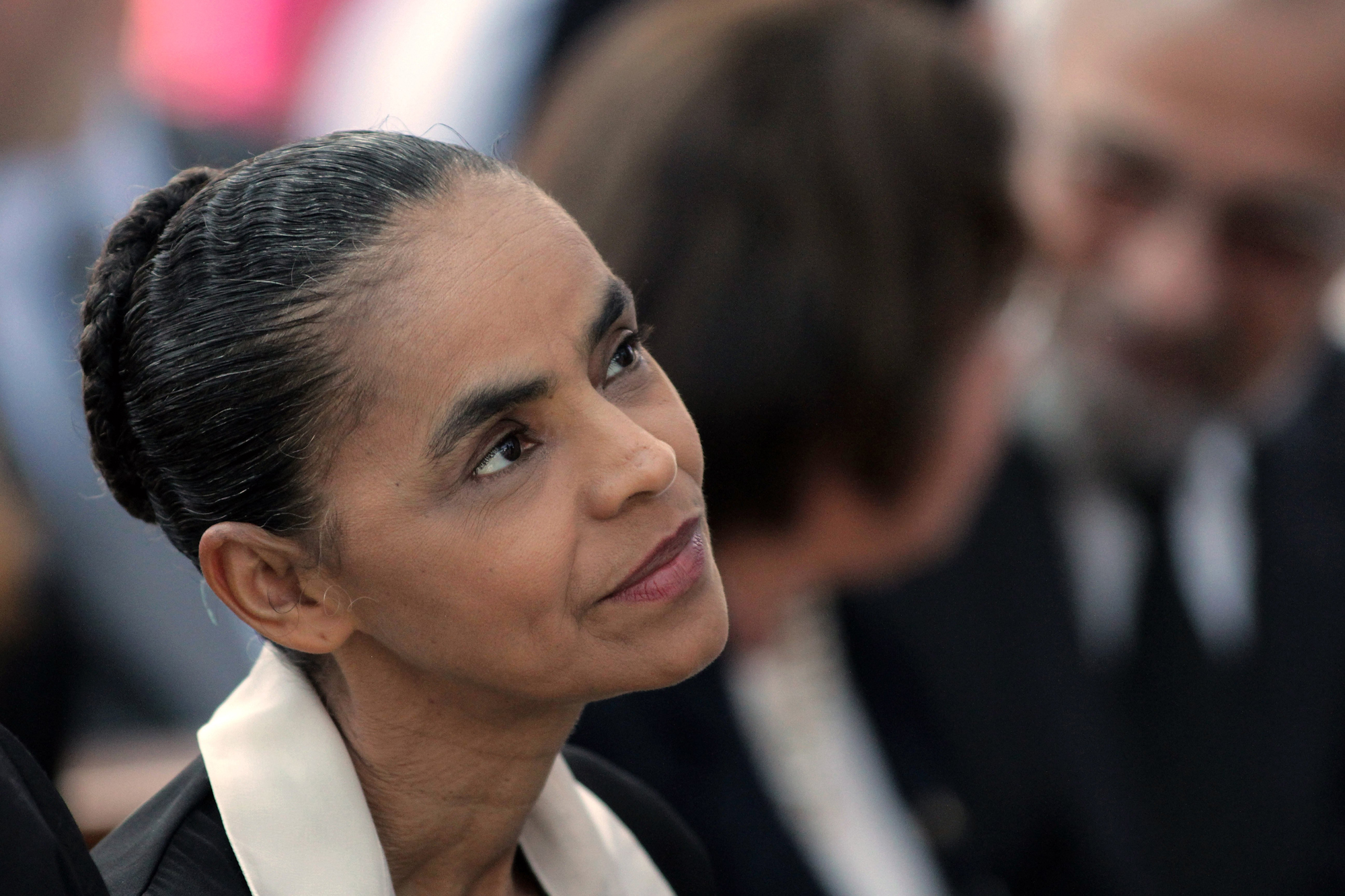 Brazilian Socialist Party presidential candidate Marina Silva attends a Mass for late presidential candidate Eduardo Campos at the Metropolitan Cathedral in Brasilia, Brazil on Aug. 19, 2014.