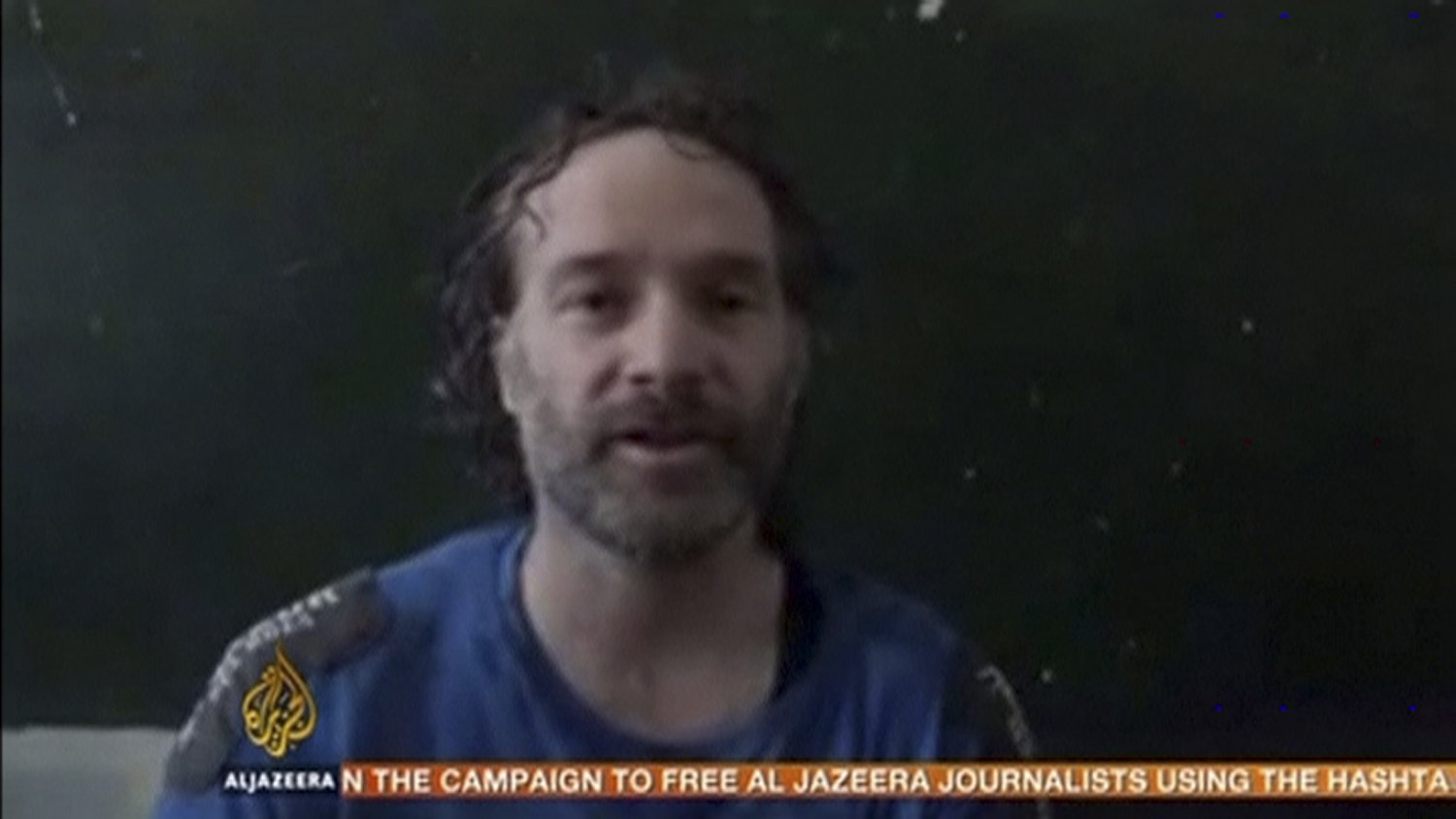 U.S. journalist Peter Theo Curtis is shown in this undated still frame taken from video courtesy of al-Jazeera on Aug. 24, 2014