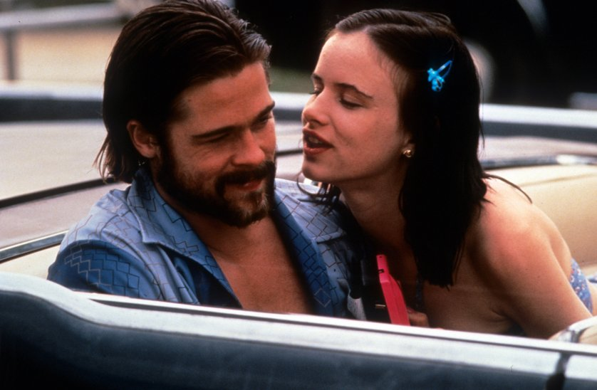 Brad Pitt and Juliette Lewis in a scene from the film 'Kalifornia' in 1993.