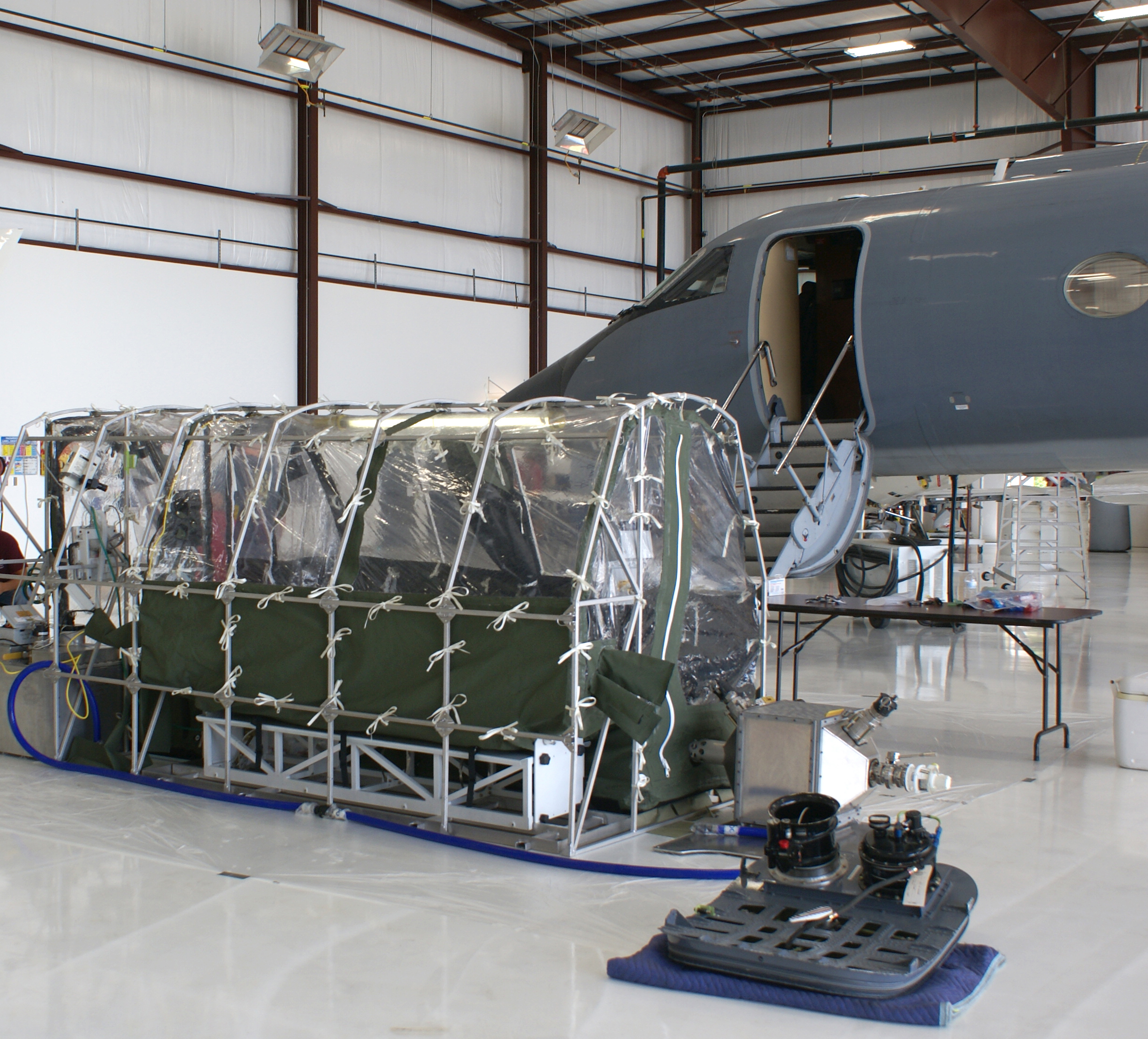 This is an example of the tent Ebola patients will be placed in to fly to the U.S.