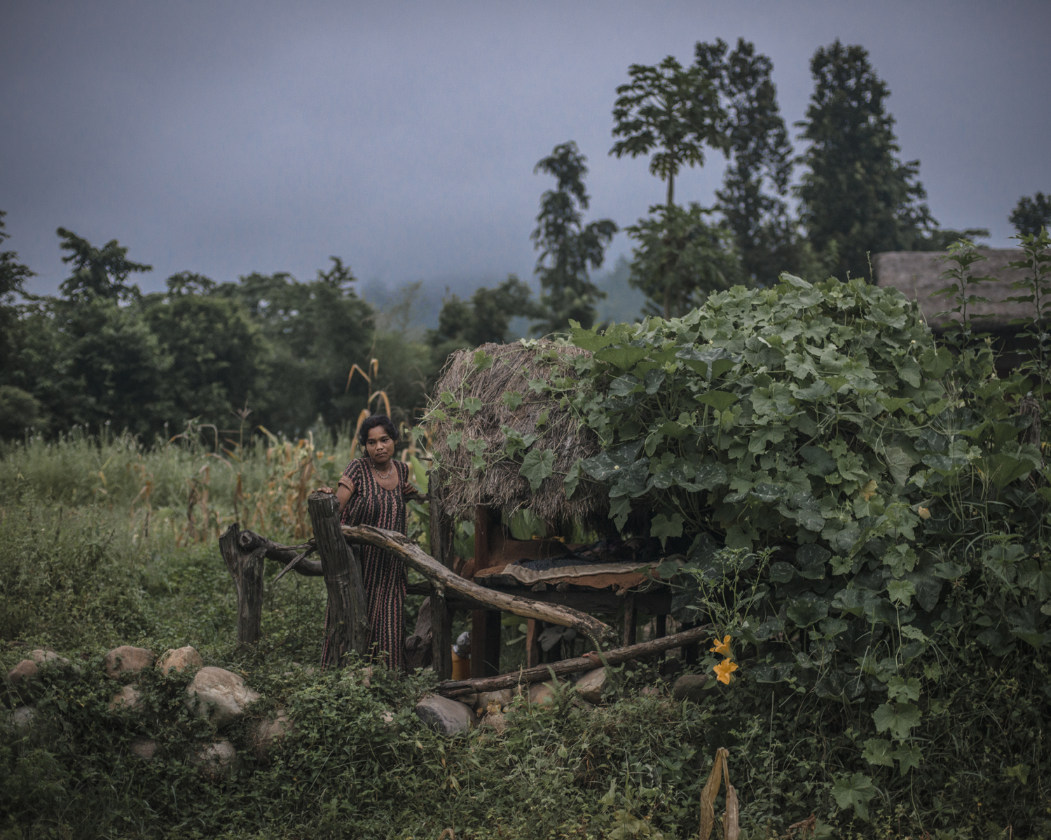 """It is very difficult to stay away from my children,  says Jamuna Bishwa Karma, 25.  One of them is still breastfeeding. My other son cries when I am away from him for days."" Surkhet District."