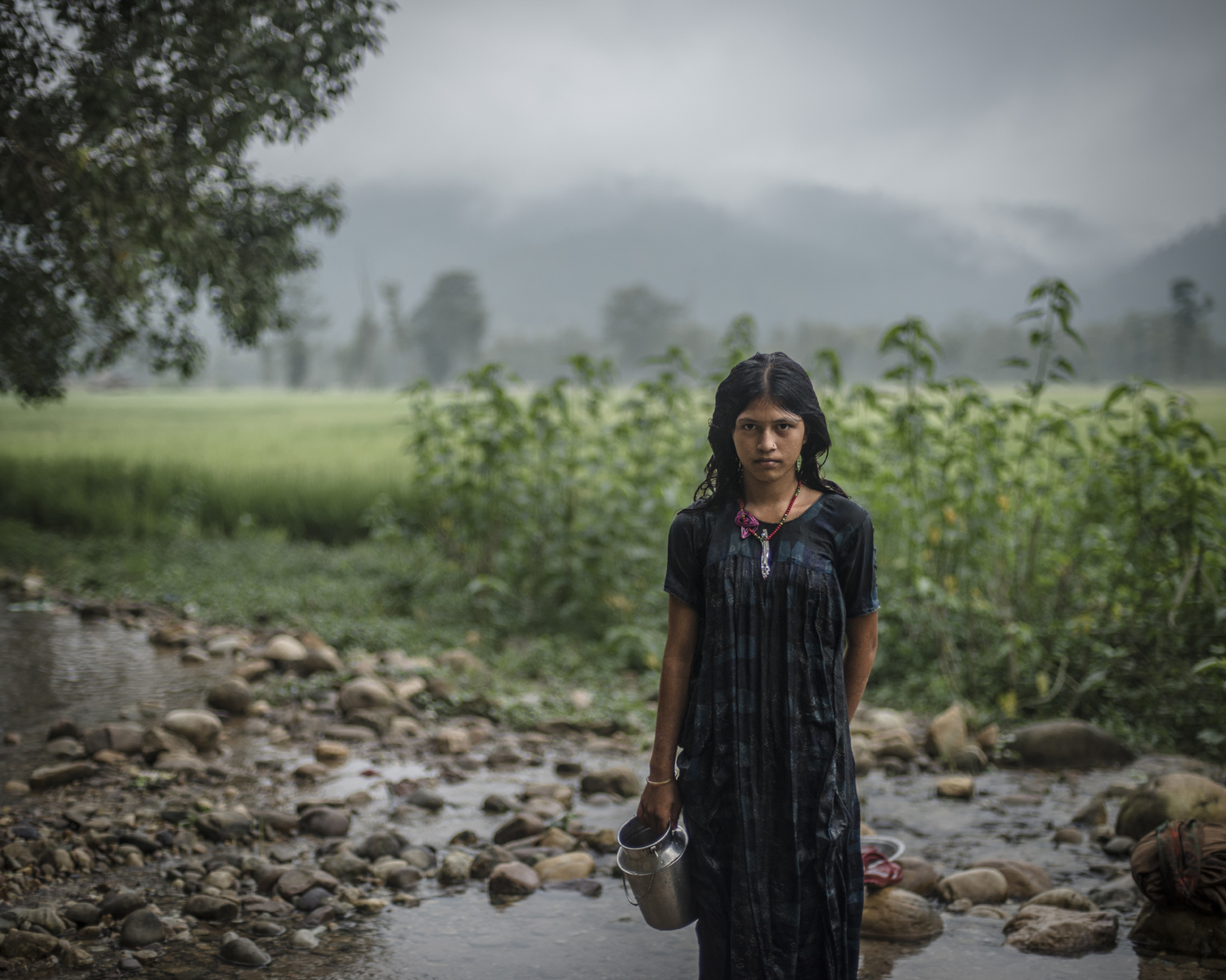 Mangu Bika, 14, after bathing. Surkhet District.