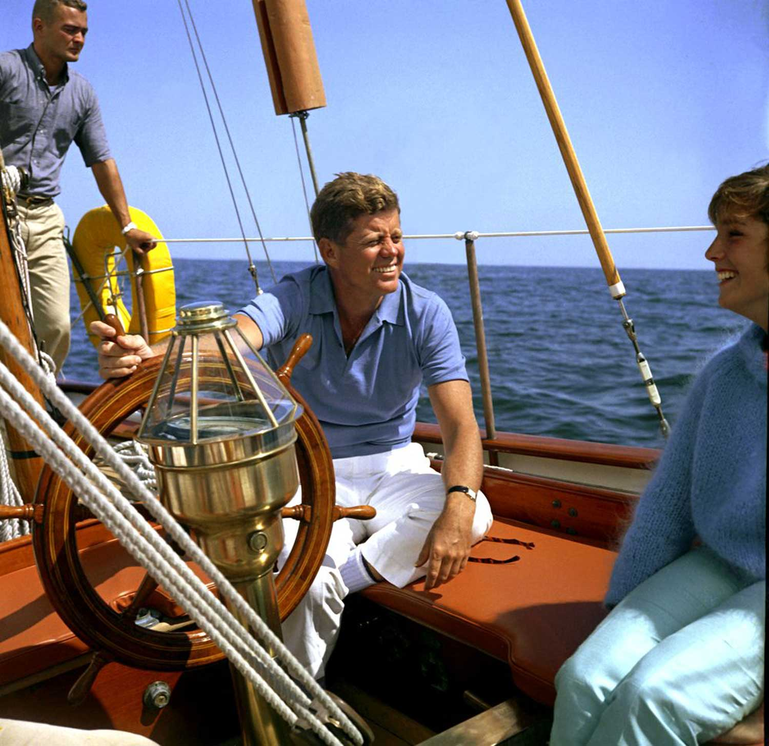 JFK began competitive sailing in his youth. The president often snuck away for a bit of solitude on the Honey Fitz, his 92-foot power yacht on the Potomac. But being a talented sailor, his favorite was the Manitou, a 62-foot sailing yacht he first spotted as a young senator.