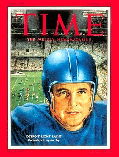 Nov. 29, 1954: Bobby Layne, Detroit Lions