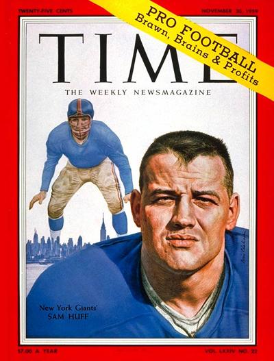 Nov. 30, 1959: Sam Huff, New York Giants
