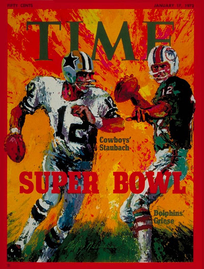 Jan. 17, 1972: Roger Staubach, Dallas Cowboys, and Bob Griese, Miami Dolphins