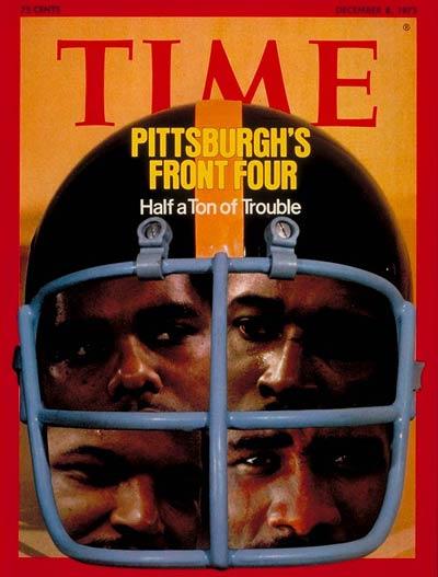 Dec. 8, 1975: Ernie Holmes, Joe Green, L.C. Greenwood and Dwight White, Pittsburgh Steelers