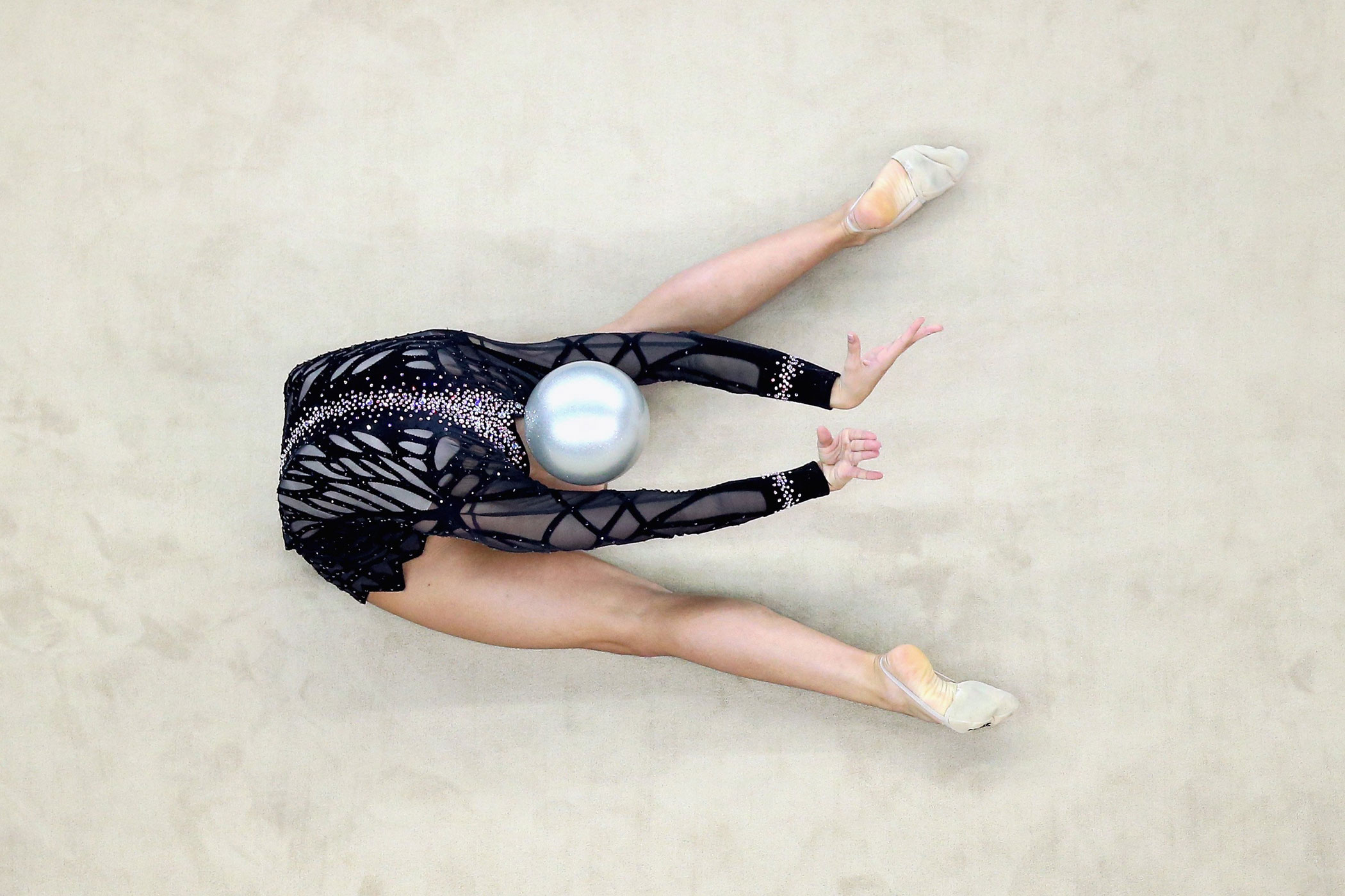 Shannon Gardiner of South Africa competes in Rhythmic Gymnastics Individual All-Around Qualification on day ten of the Nanjing 2014 Summer Youth Olympic Games at Nanjing OSC Gymnasium on Aug. 26, 2014 in Nanjing.