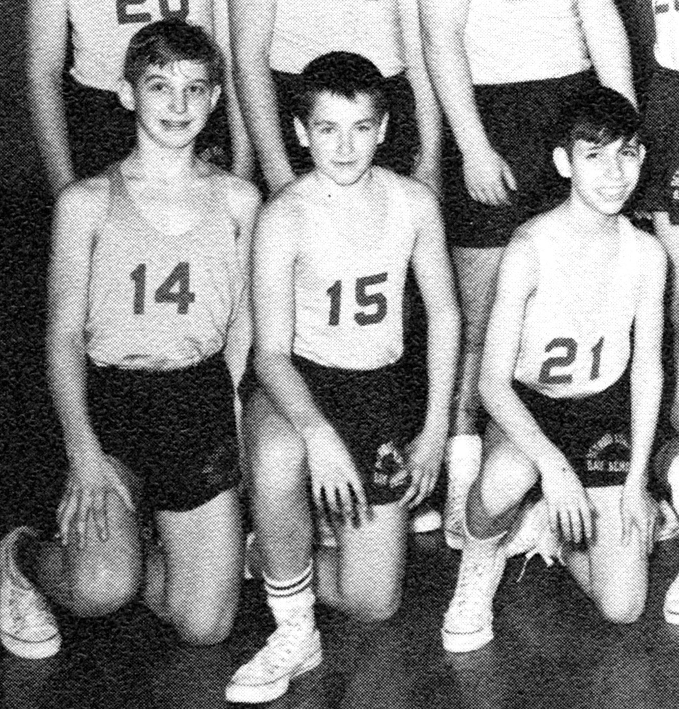 In the 8th grade, Robin Williams, #15, played on the basketball team at Detroit Country Day School.