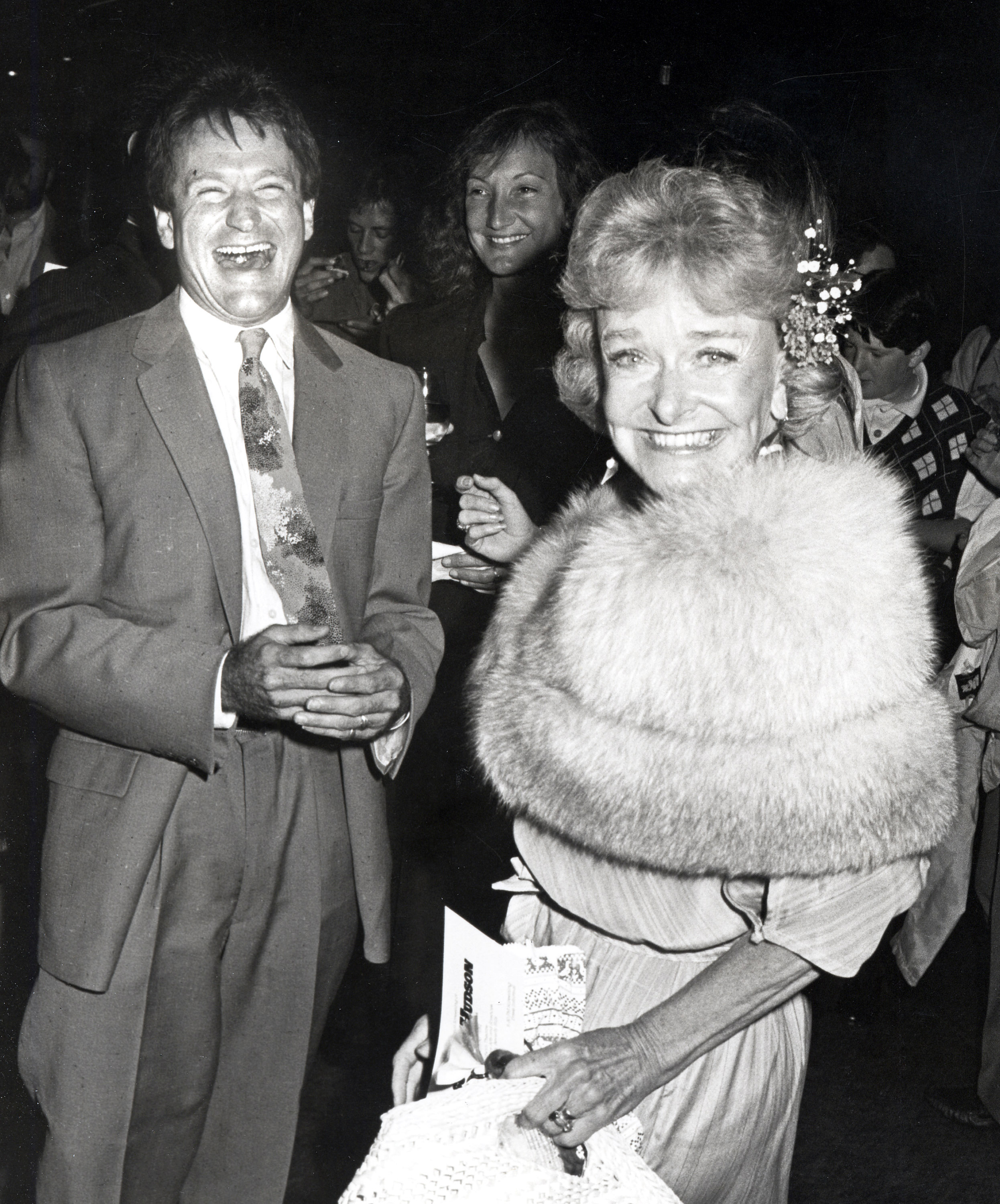 "Robin Williams with his mom, Laurie Williams, during the premiere of ""Moscow on The Hudson"" at Samuel Goldwyn Theater in Beverly Hills, Calif in 1984."