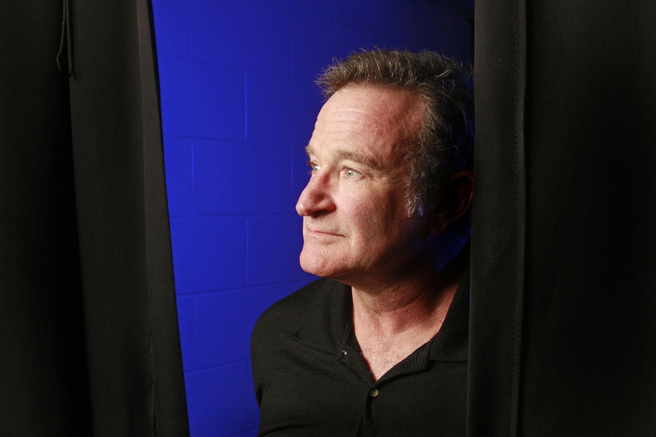 Robin Williams before his performance at the Ted Constant Convocation Center in Norfolk, Va., on Oct. 28, 2009