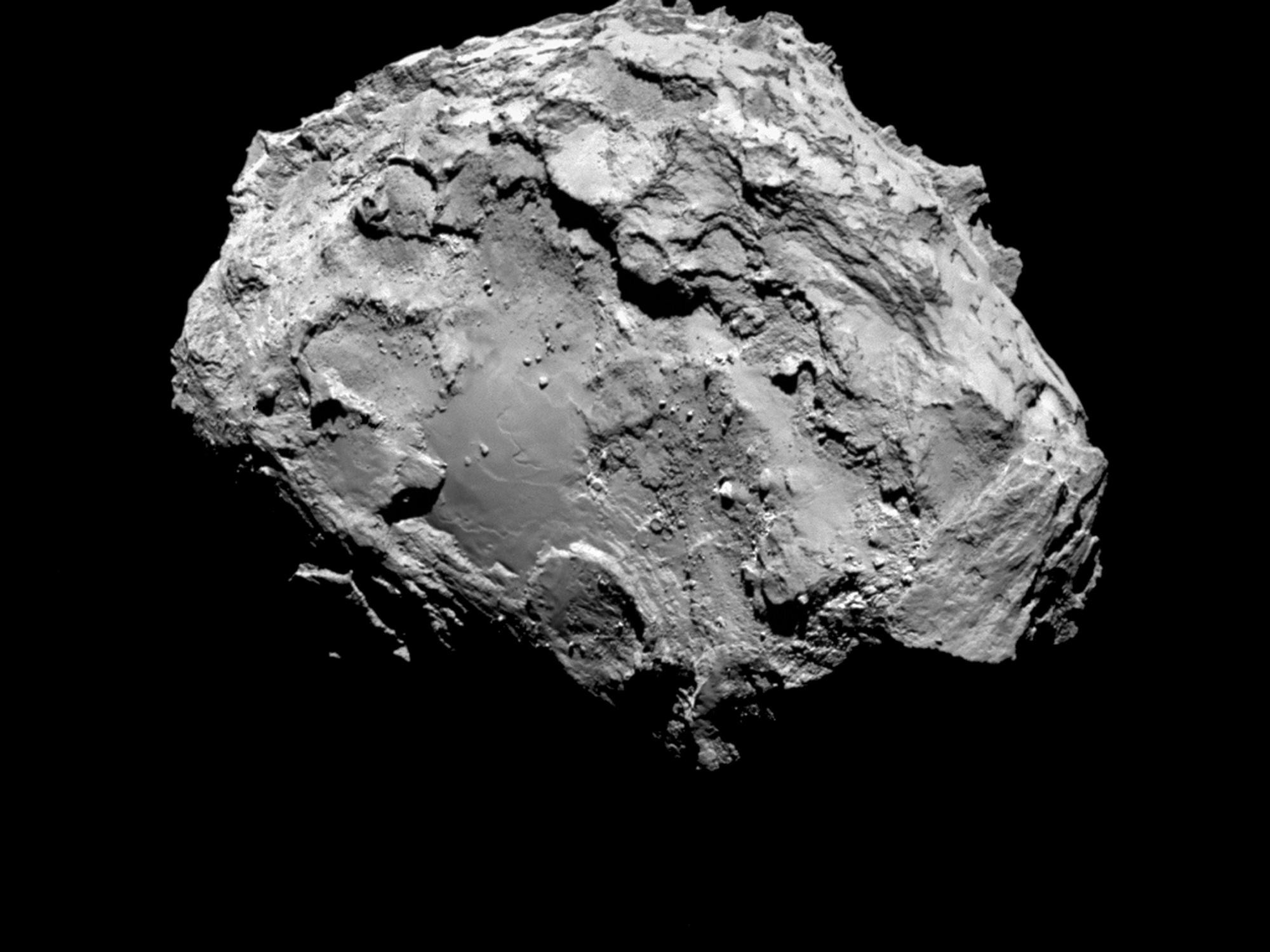 Picture taken on August 3, 2014 by ESA's space probe Rosettas OSIRIS narrow-angle camera shows the Comet 67P/Churyumov-Gerasimenko.