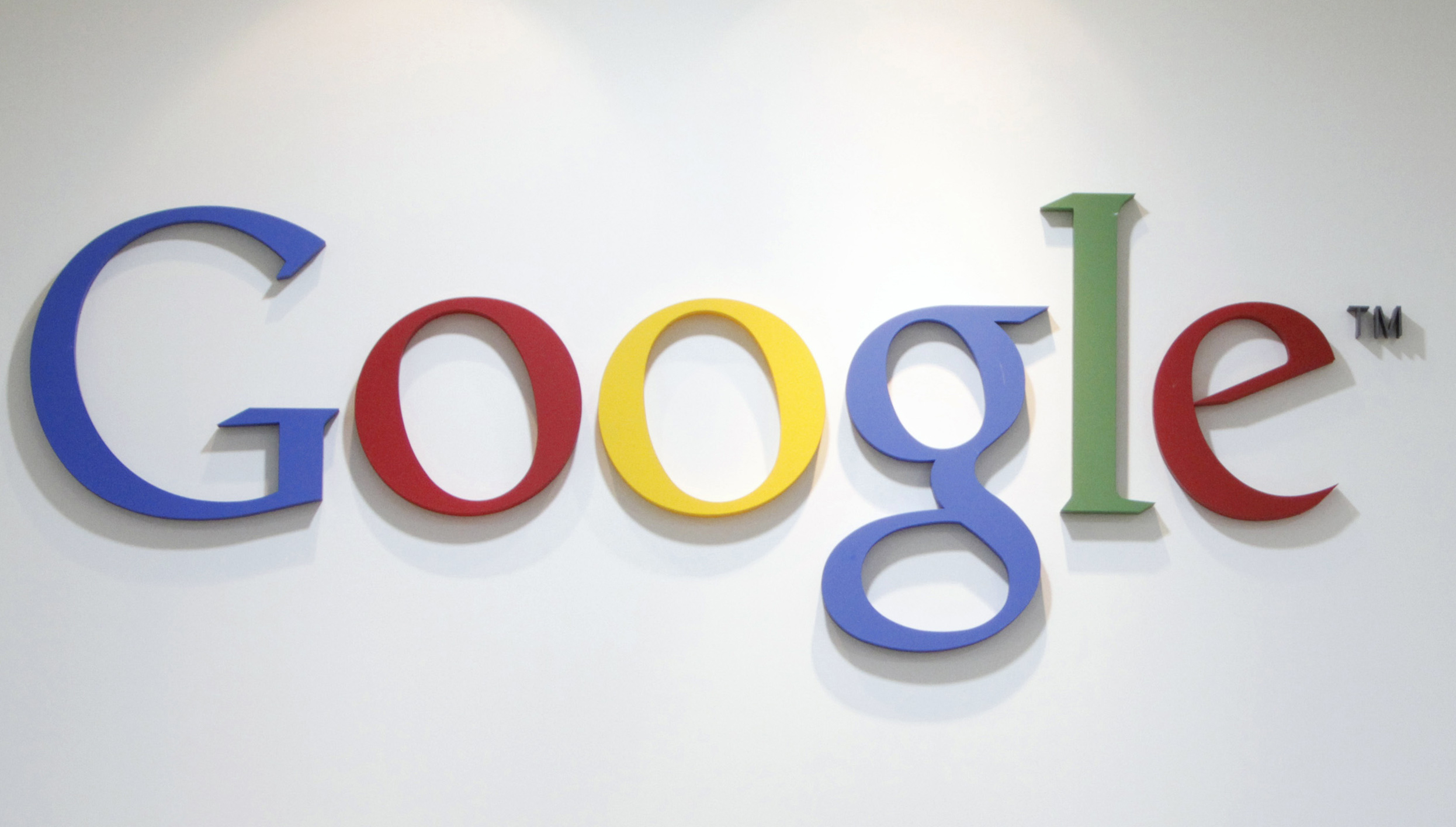 Google's logo at an office in Seoul on May 3, 2011