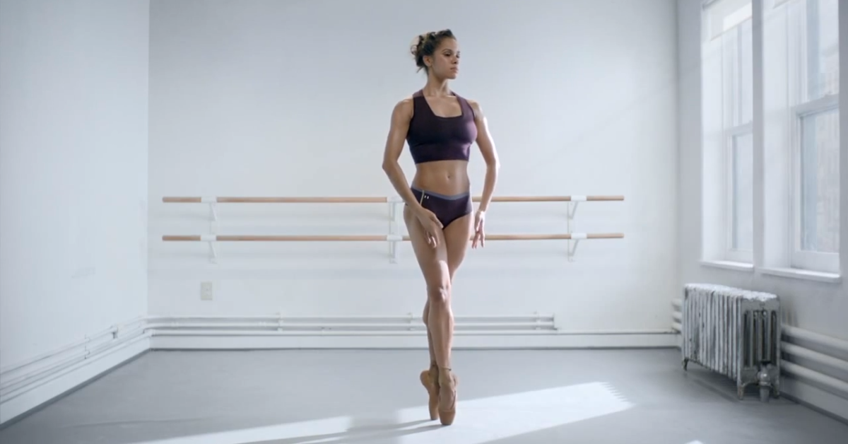 Faringe Ejercicio el viento es fuerte  Under Armour's Ballerina Misty Copeland Ad I Will What I Want | Time