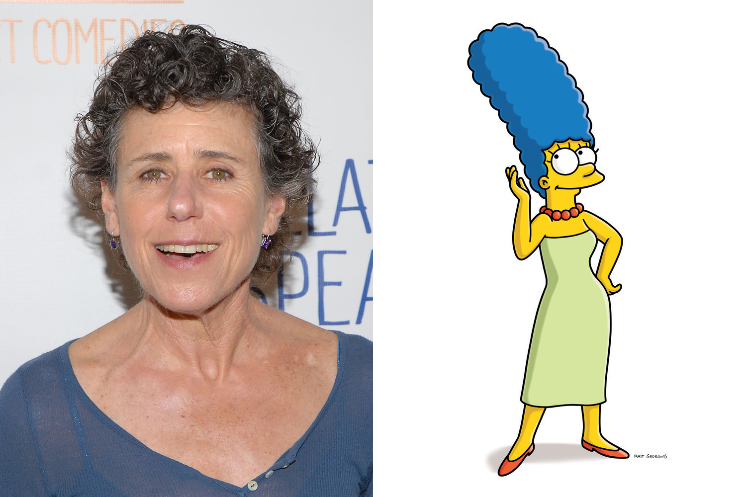 Julie Kavner voices Marge Simpson as well as her twin sisters Patty and Selma and their estranged mother Jacqueline.