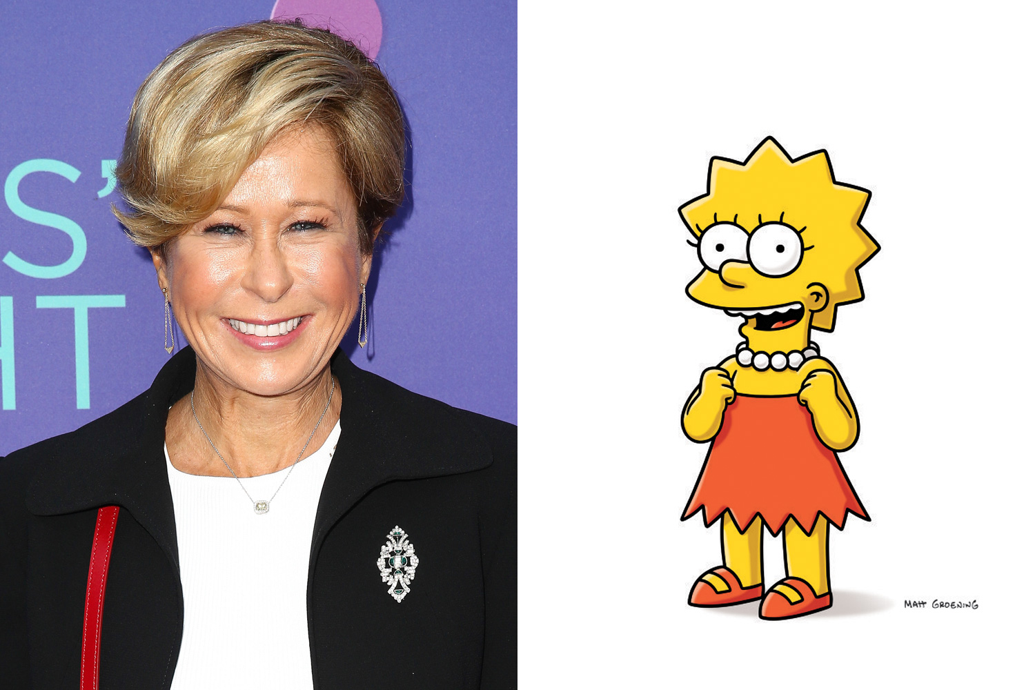 Yeardley Smith is the voice of Lisa, the brains of the Simpson clan.