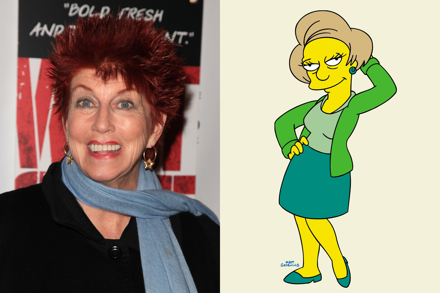 The late Marcia Wallace was the voice of elementary school teacher Edna Krabappel.