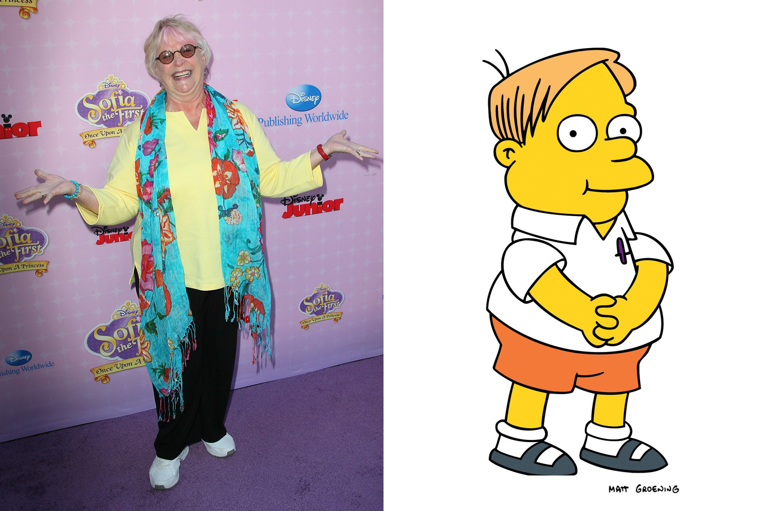 Russi Taylor voiced some of the kids at Springfield Elementary such as Martin Prince, Terri and Sherri, and German exchange student Üter Zörker.