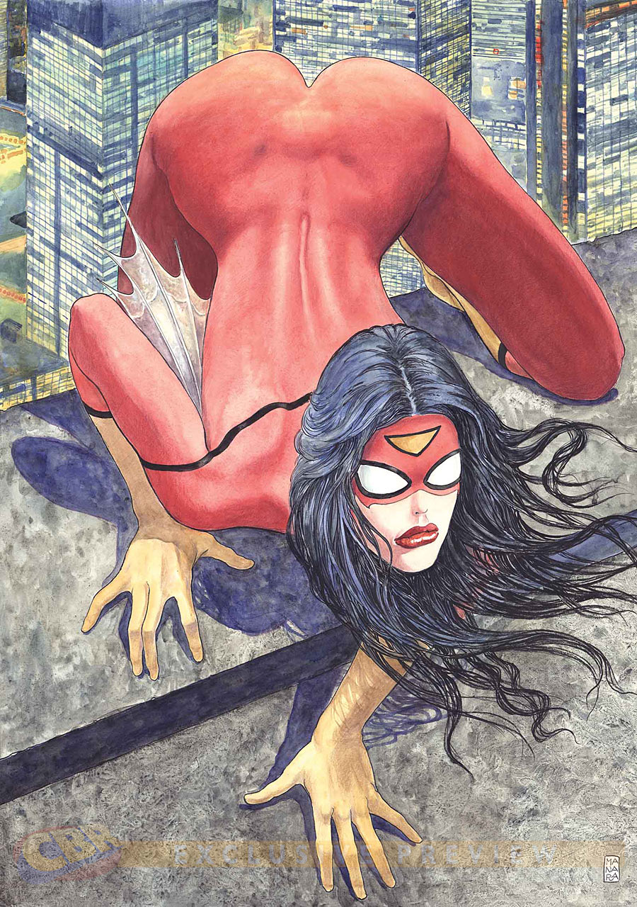 Spider-Woman #1 Variant Cover by Milo Manara
