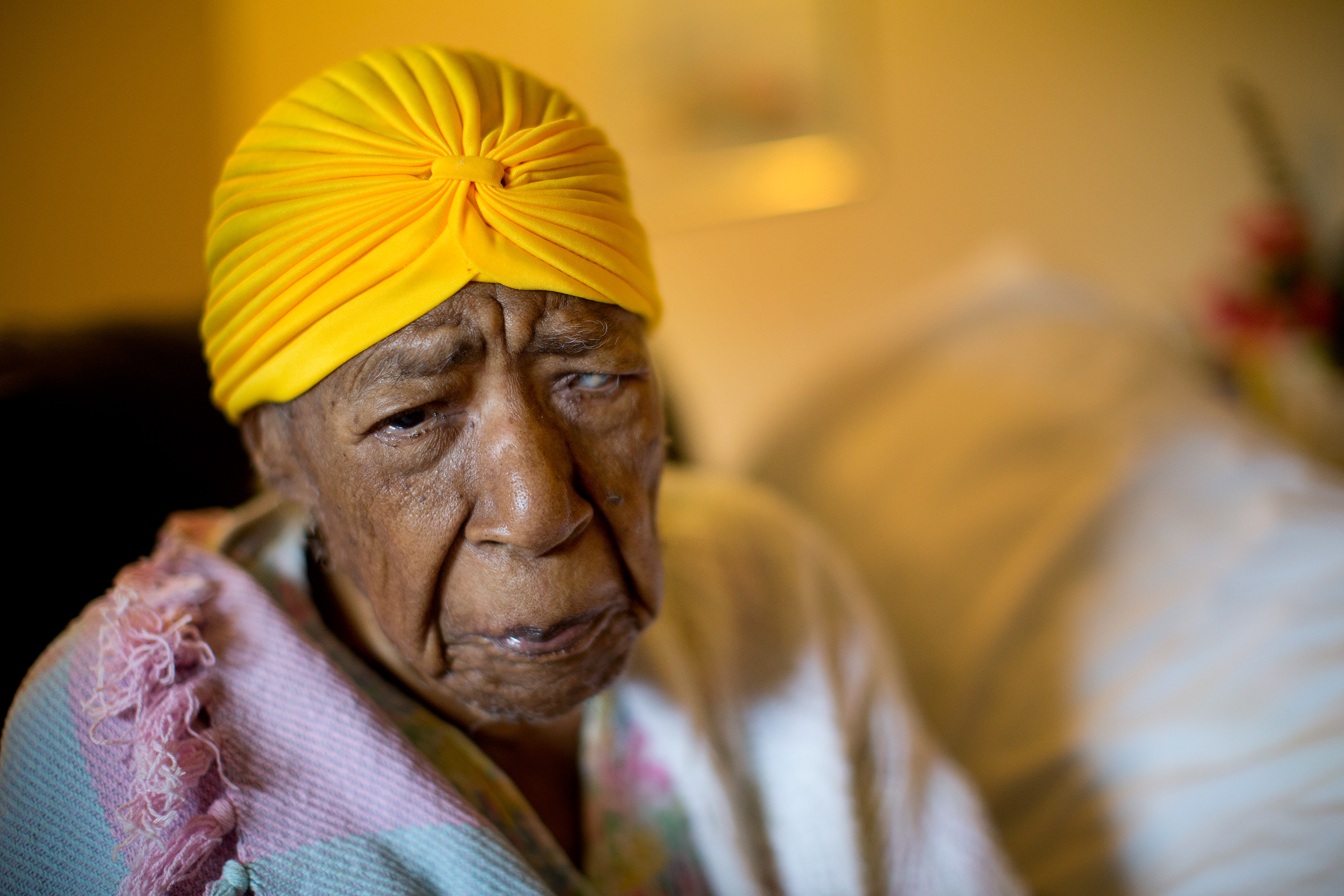 Susannah Mushatt Jones in her home in Brooklyn on June 11, 2014, a few weeks before her 115th birthday.