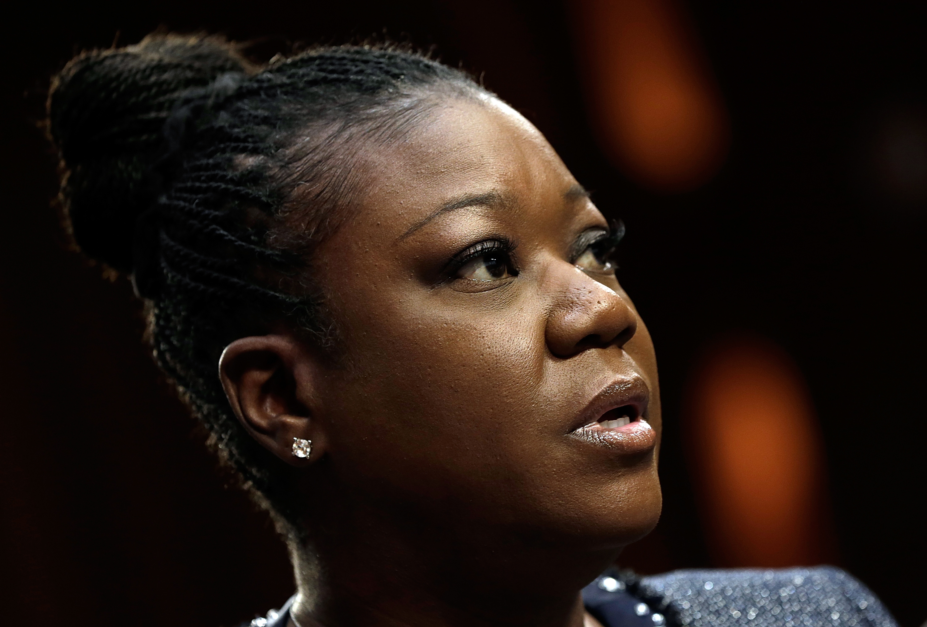 Sybrina Fulton of Miami, Fla., mother of Trayvon Martin, testifies during a Senate Judiciary Committee hearing on  Stand Your Ground  laws October 29, 2013 in Washington DC.