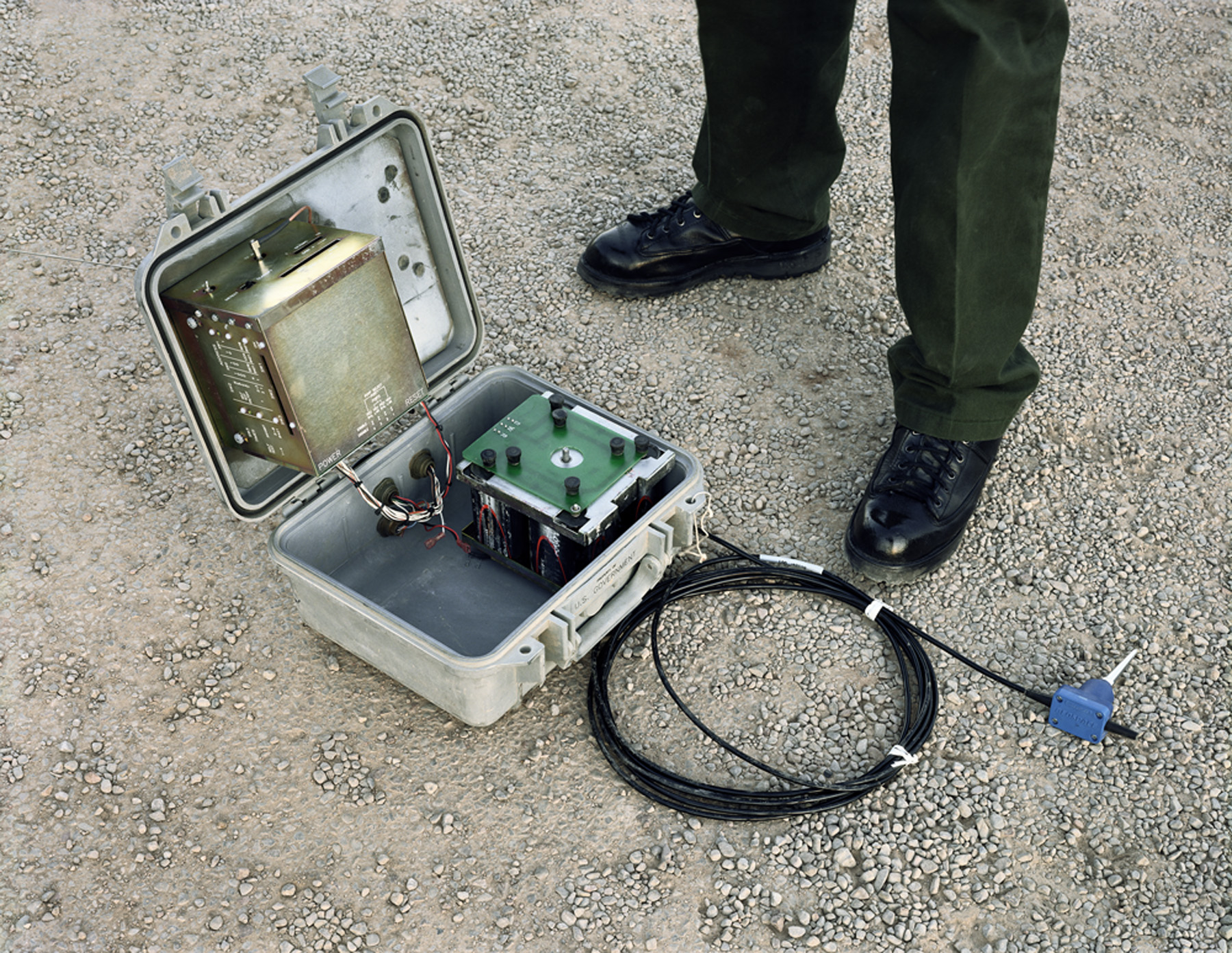 Seismic Sensor, Texas, 2007From the series  Working the Line