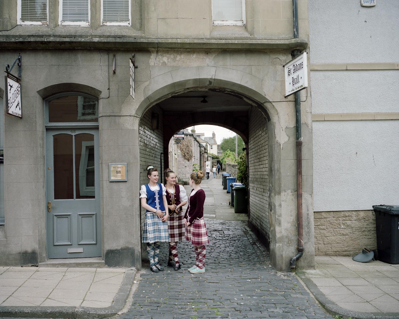 Scottish Highland dancers, Berwick-Upon-Tweed, England.
