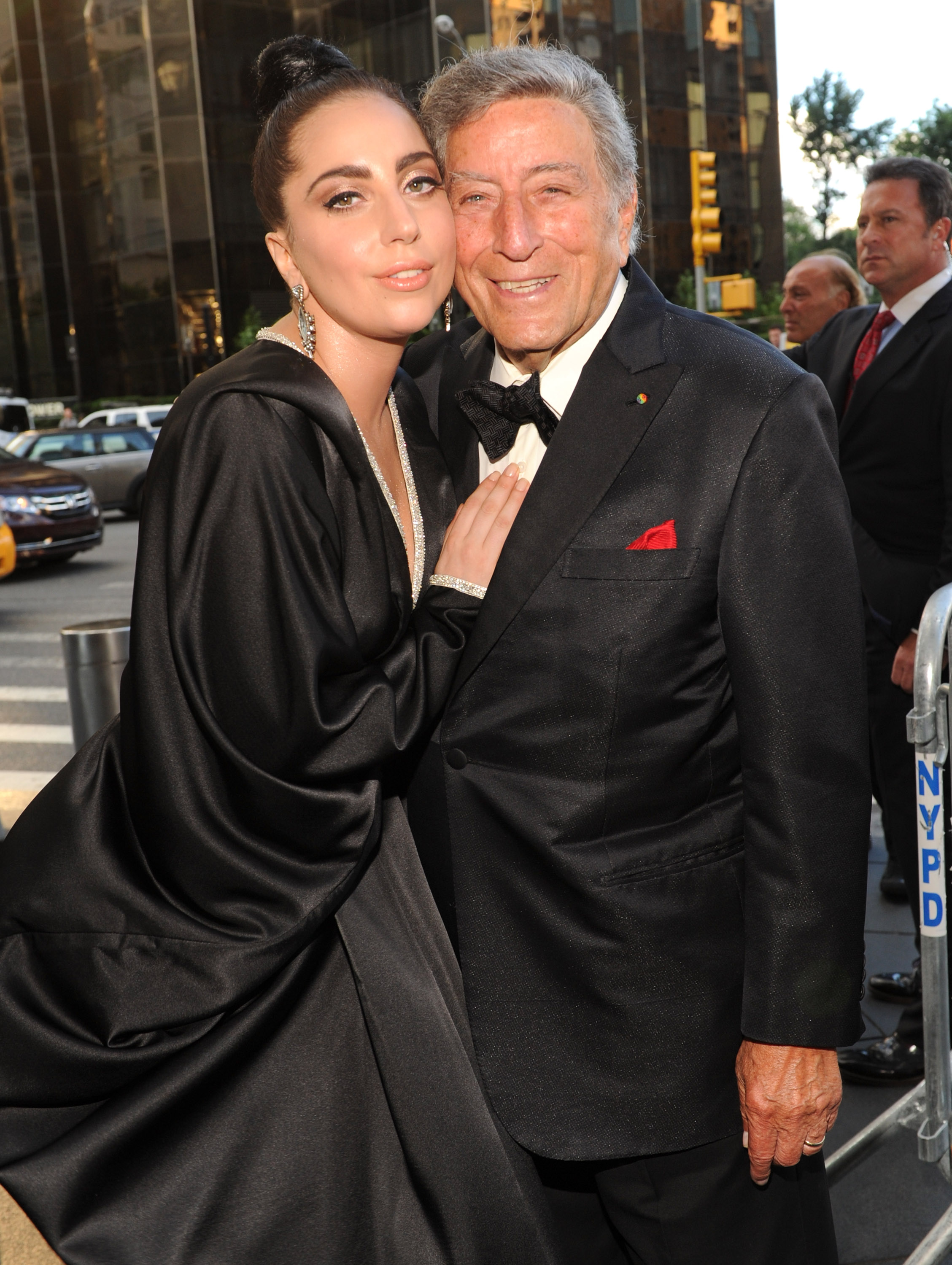 Tony Bennett and Lady Gaga arrive to their  Cheek To Cheek  taping at Jazz at Lincoln Center on July 28, 2014 in New York City.