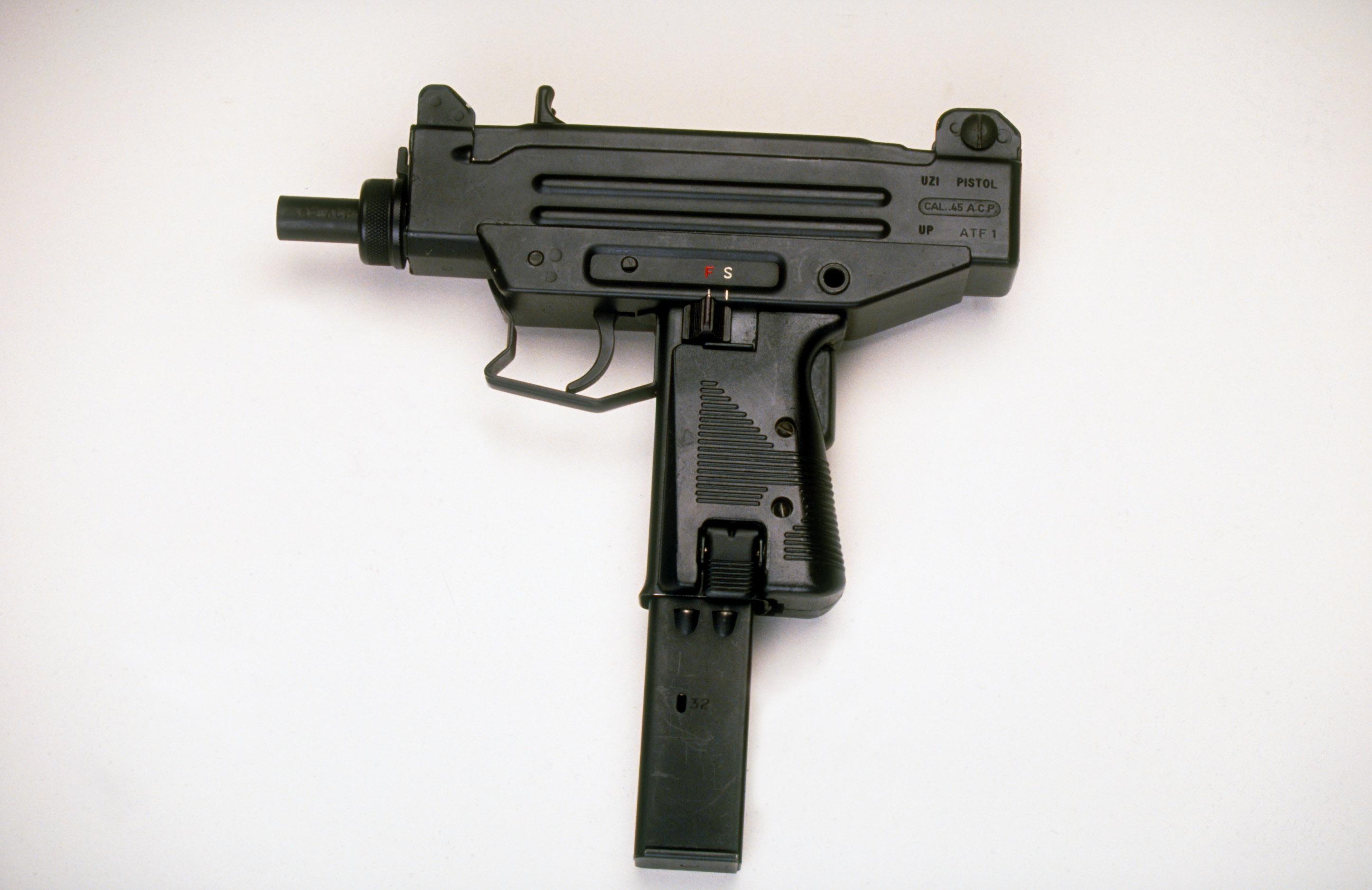 An UZI assault pistol