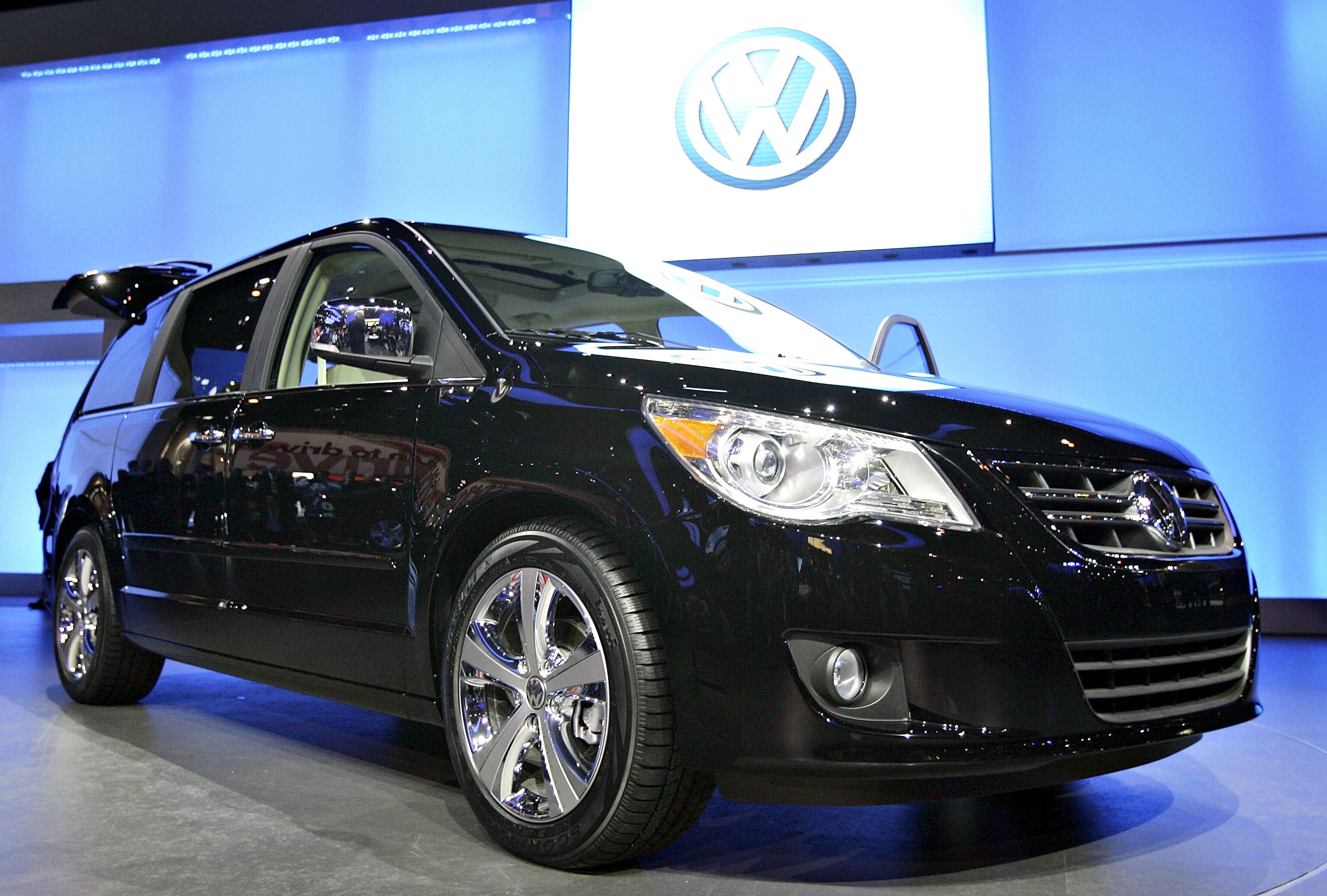 The 2009 Volkswagen Routan is introduced at the Chicago Auto Show in Chicago, Illinois, U.S., during a media preview on Wednesday, Feb. 6, 2008.