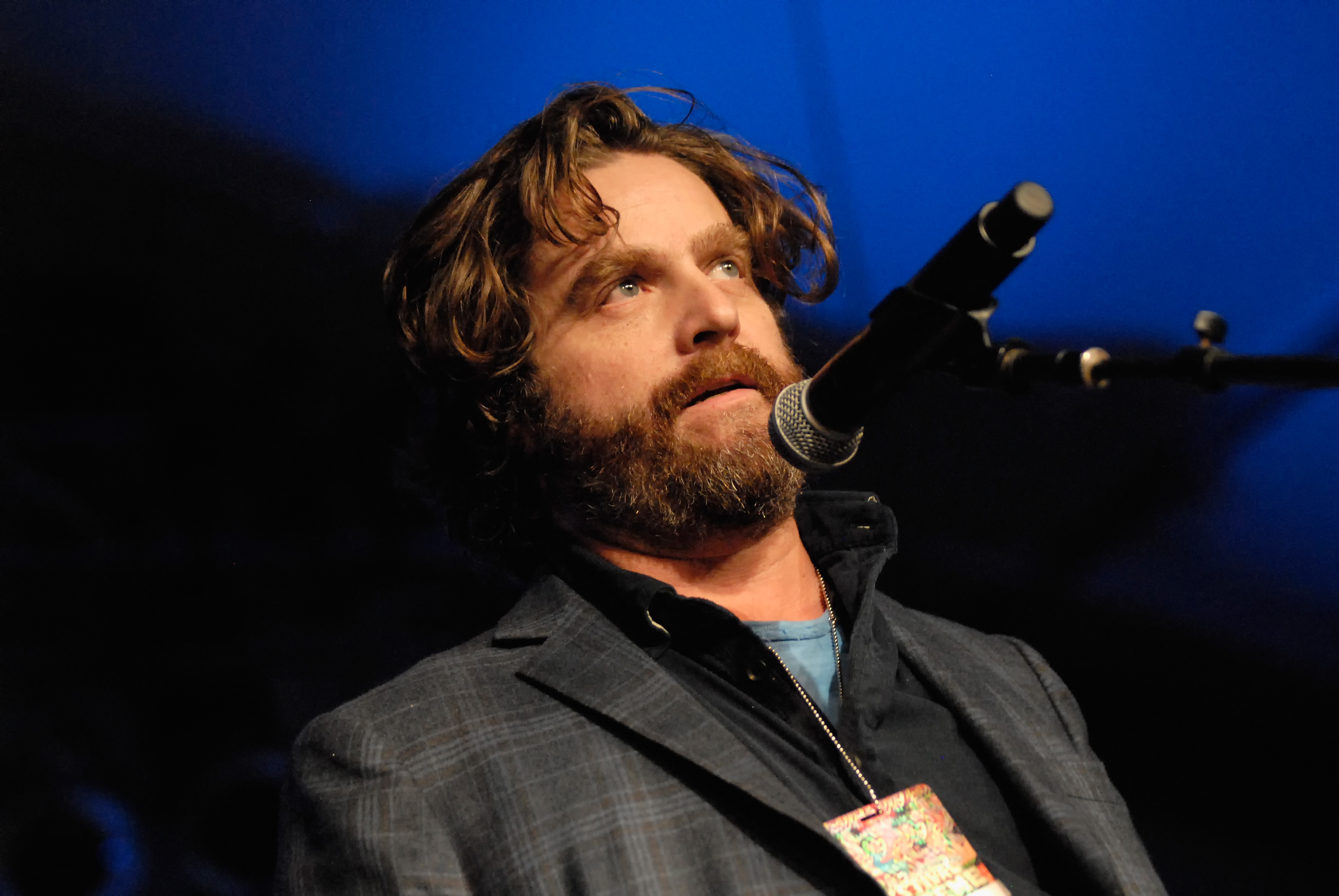 Actor Zach Galifianakis performs at the Festival Supreme comedy and music festival on the Santa Monica Pier on October 19, 2013 in Santa Monica, California.
