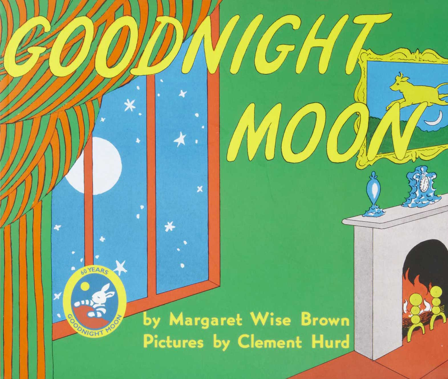 Goodnight Moon, by Margaret Wise Brown, illustrations by Clement Hurd.                                                                                                                            Somewhere a child is being put to sleep right now to Brown's soothing, repetitive cadences. While the lines may be etched in every parent's memory, Hurd's illustrations, with their quirky hidden jokes, provide amusement on the thousandth reading.                                                                                                                            Buy now: Goodnight Moon