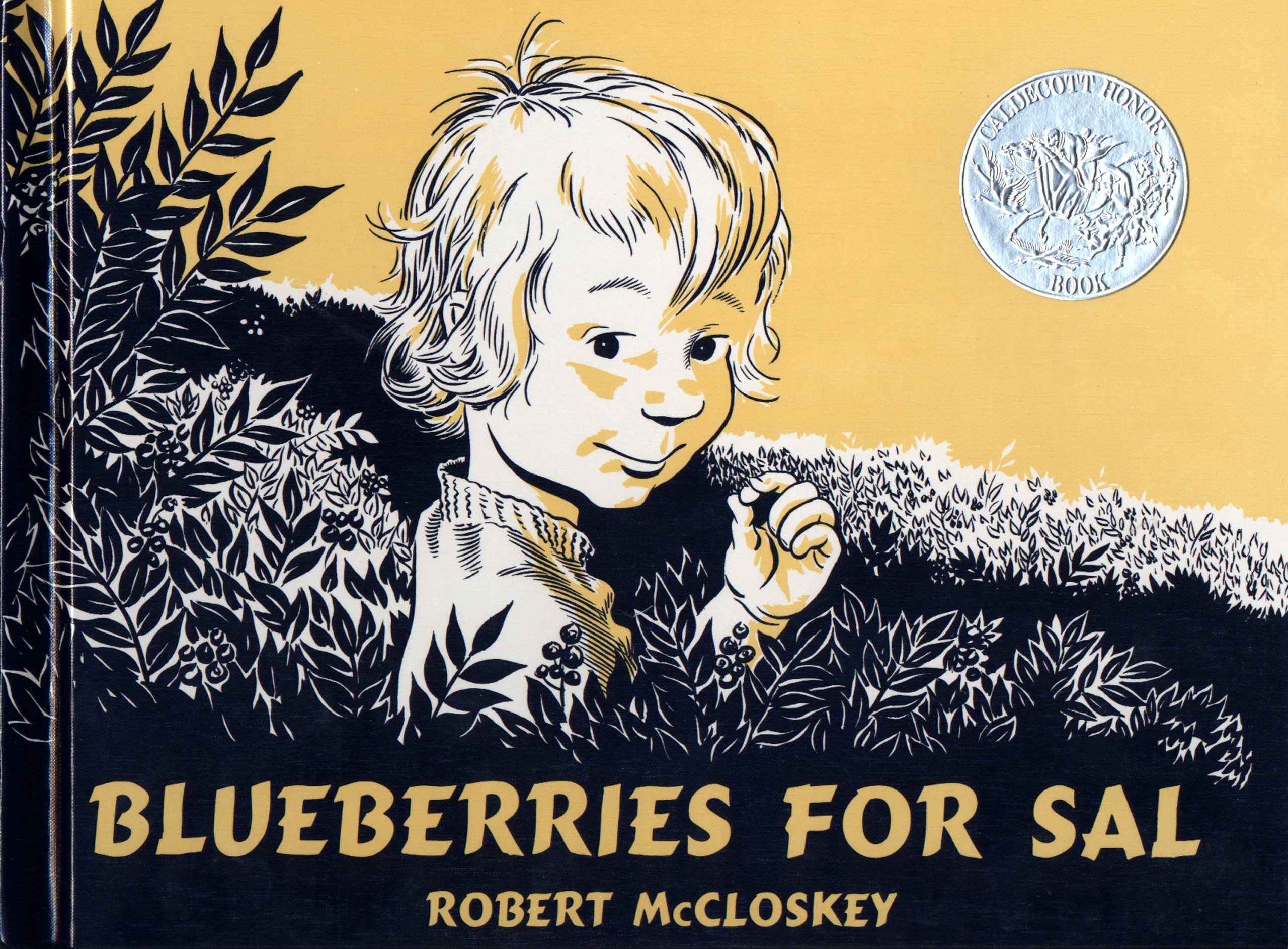 Blueberries for Sal, by Robert McCloskey.                                                                                                                             The block-printed illustrations show just how similar families of different species can be, as child Sal and a baby bear covet Maine blueberries on a berry hunt with their respective mothers. It's an instructive read for any kid who's ever felt a bit like a wild animal, or parents who've ever felt like they're raising one.                                                                                                                            Buy now: Blueberries for Sal