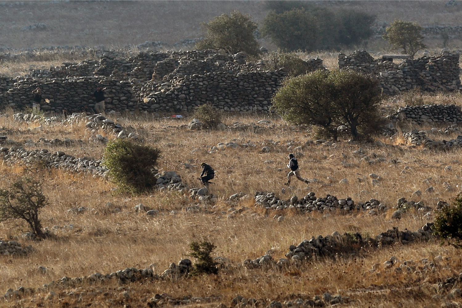 Sept. 2, 2014. Syrian rebels take position near the Israeli-Syrian border, during the fighting between Syrian army and rebels. Islamist militants in Syria have demanded that their Al-Nusra Front group be taken off the UN list of terrorist organizations as a condition for releasing dozens of Fijian peacekeepers captured on the Golan Heights, local media said.
