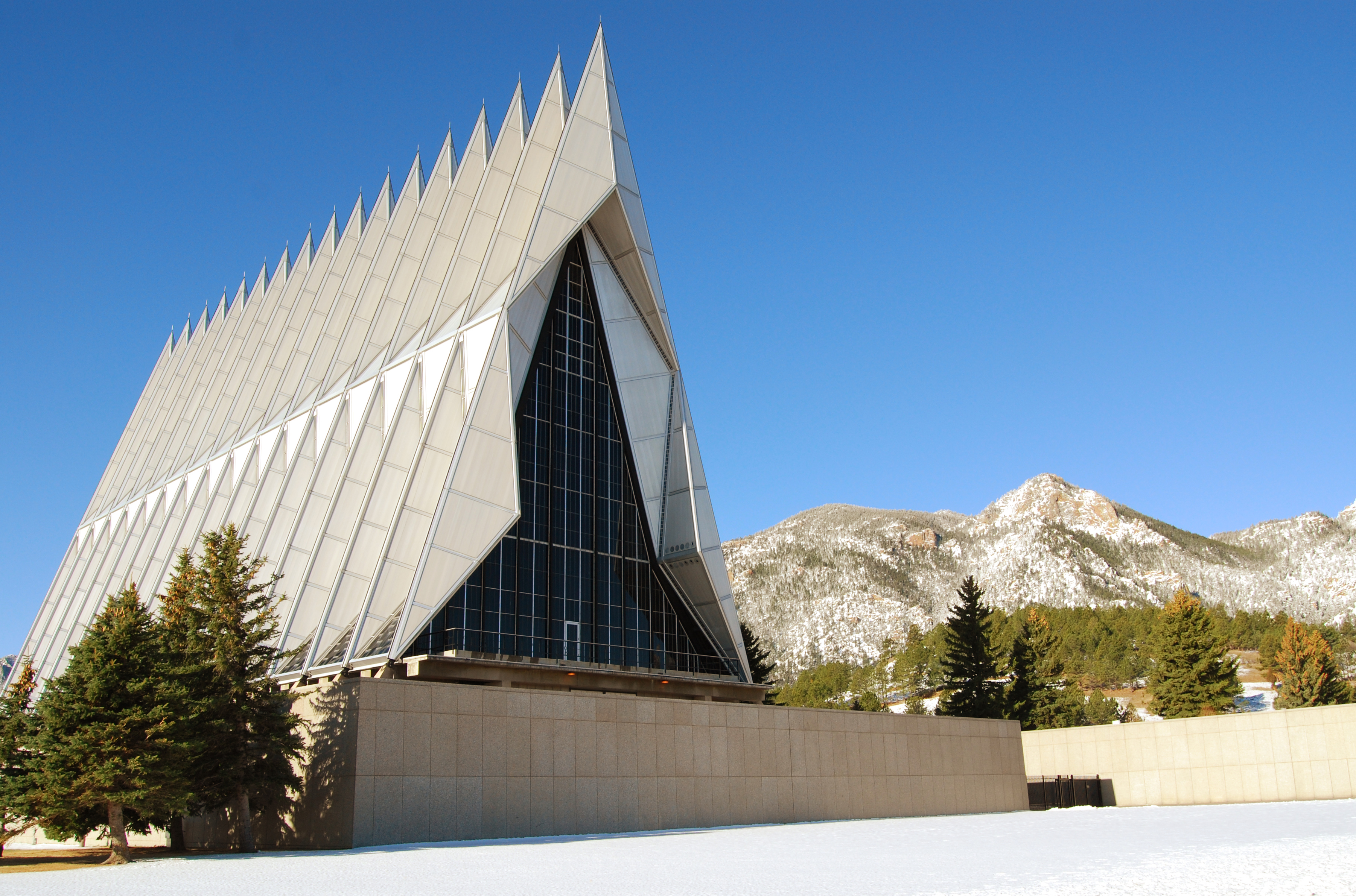 The Cadet Chapel at the U.S. Air Force Academy in Colorado Springs, Colo.