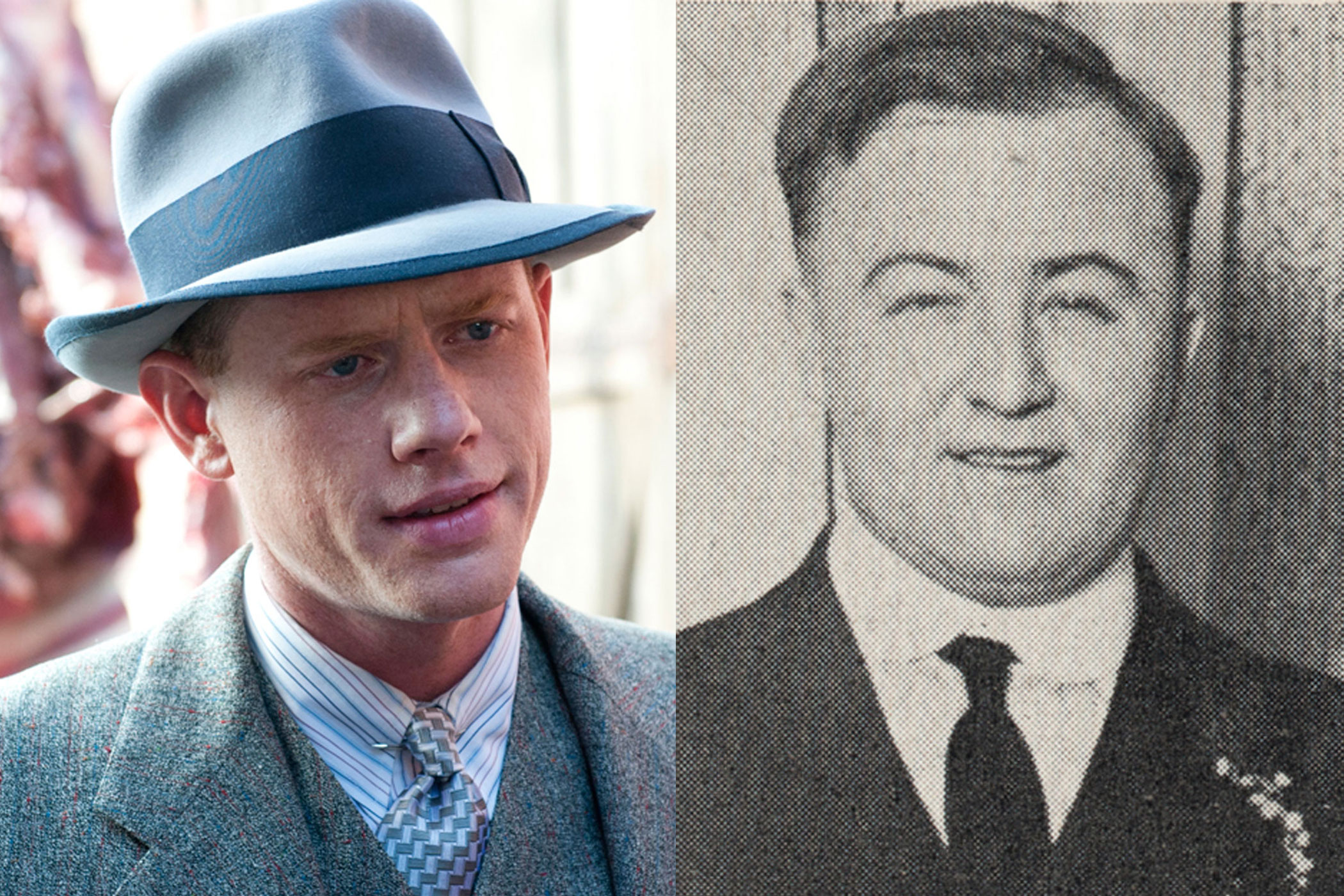 Dean O'Banion:                               Irish-American gangster Dean O'Banion, known as Dion O'Banion to many, was something of a rival to both Al Capone and Johnny Torrio, just like Arron Shiver's Boardwalk character.