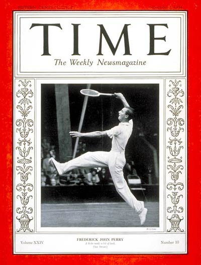 Fred Perry on the Sept. 3, 1934, cover of TIME