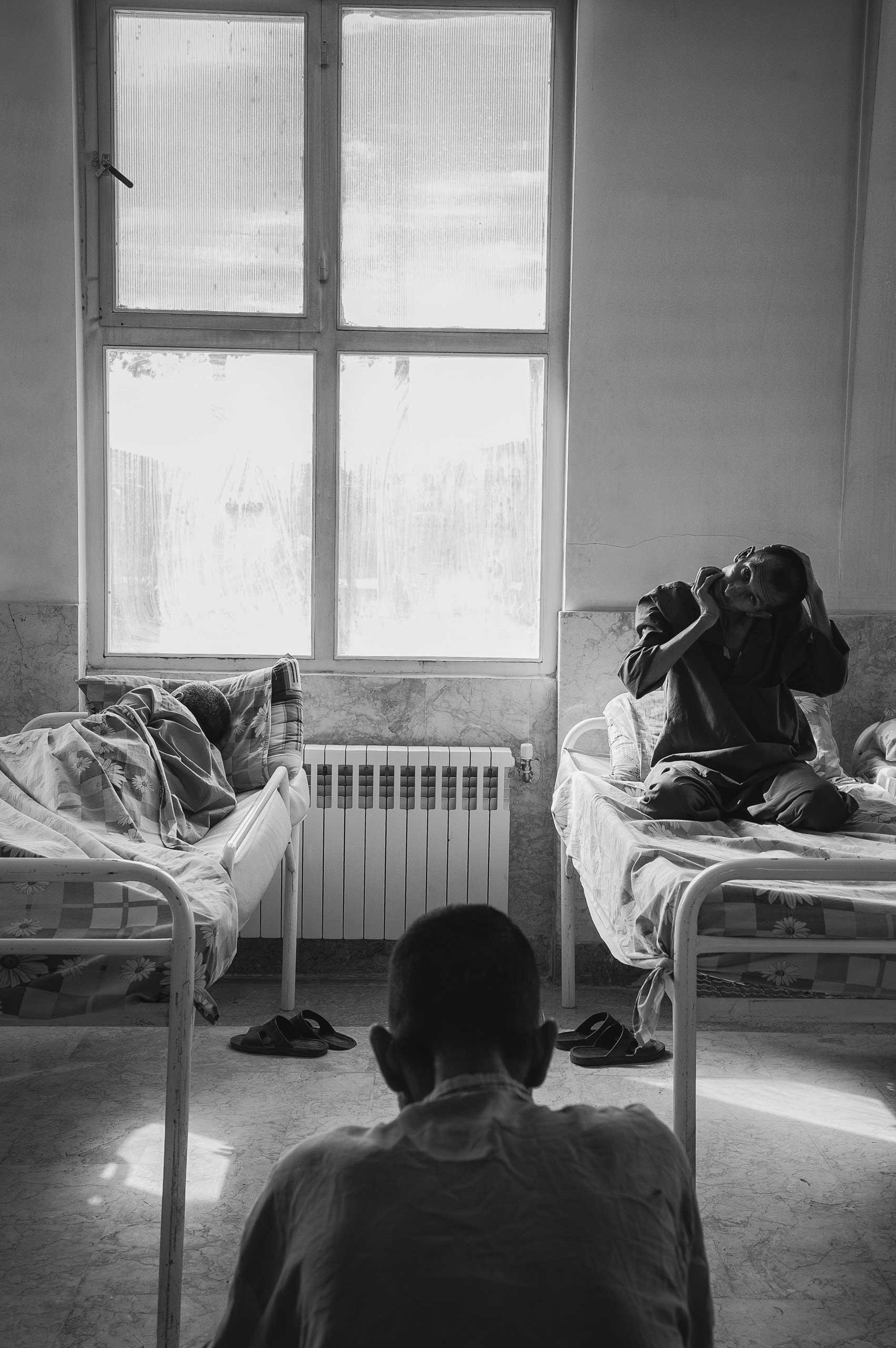 Patients sleeping.
