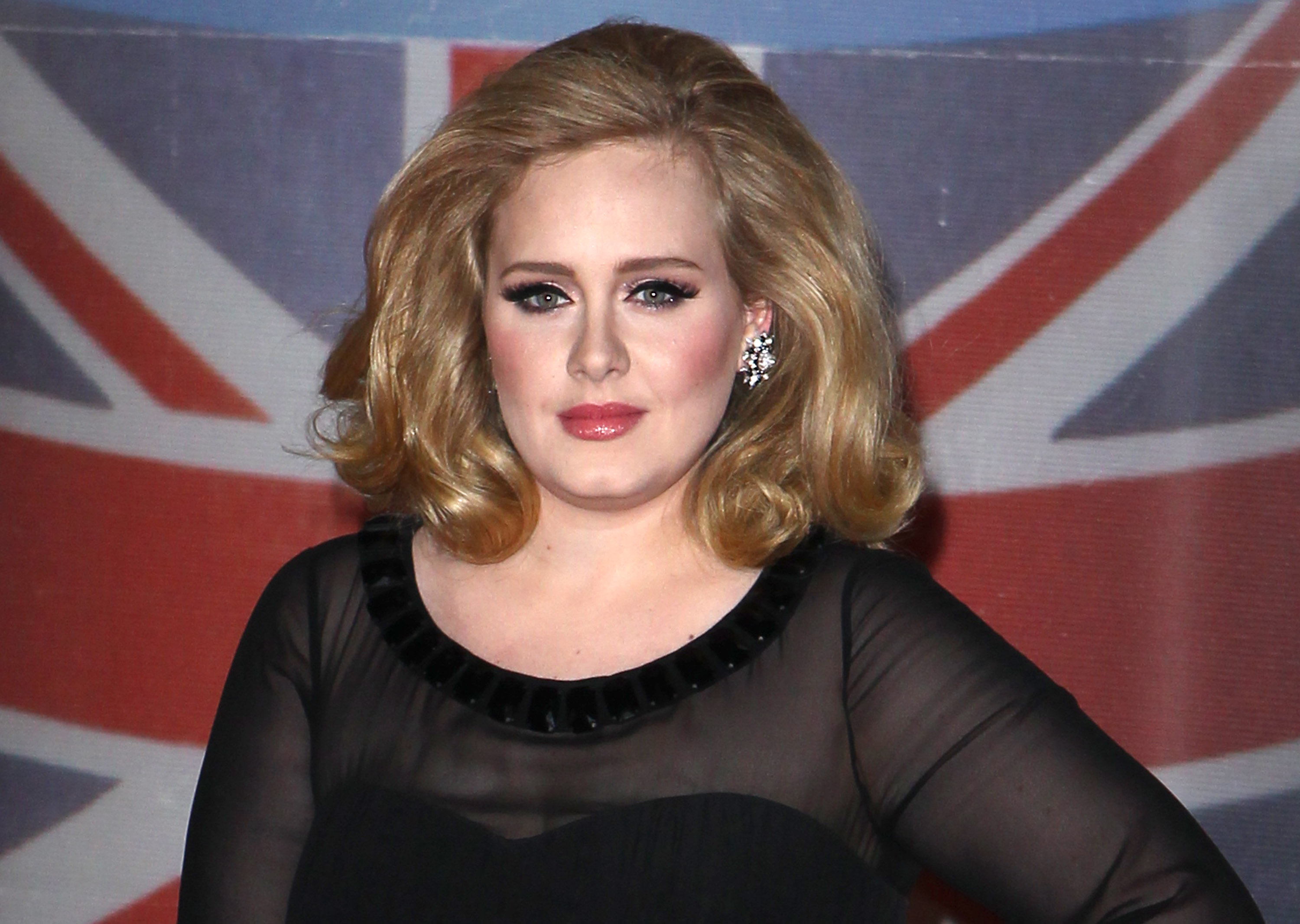 Adele attends the BRIT Awards 2012 at 02 Arena on Feb. 21, 2012 in London.