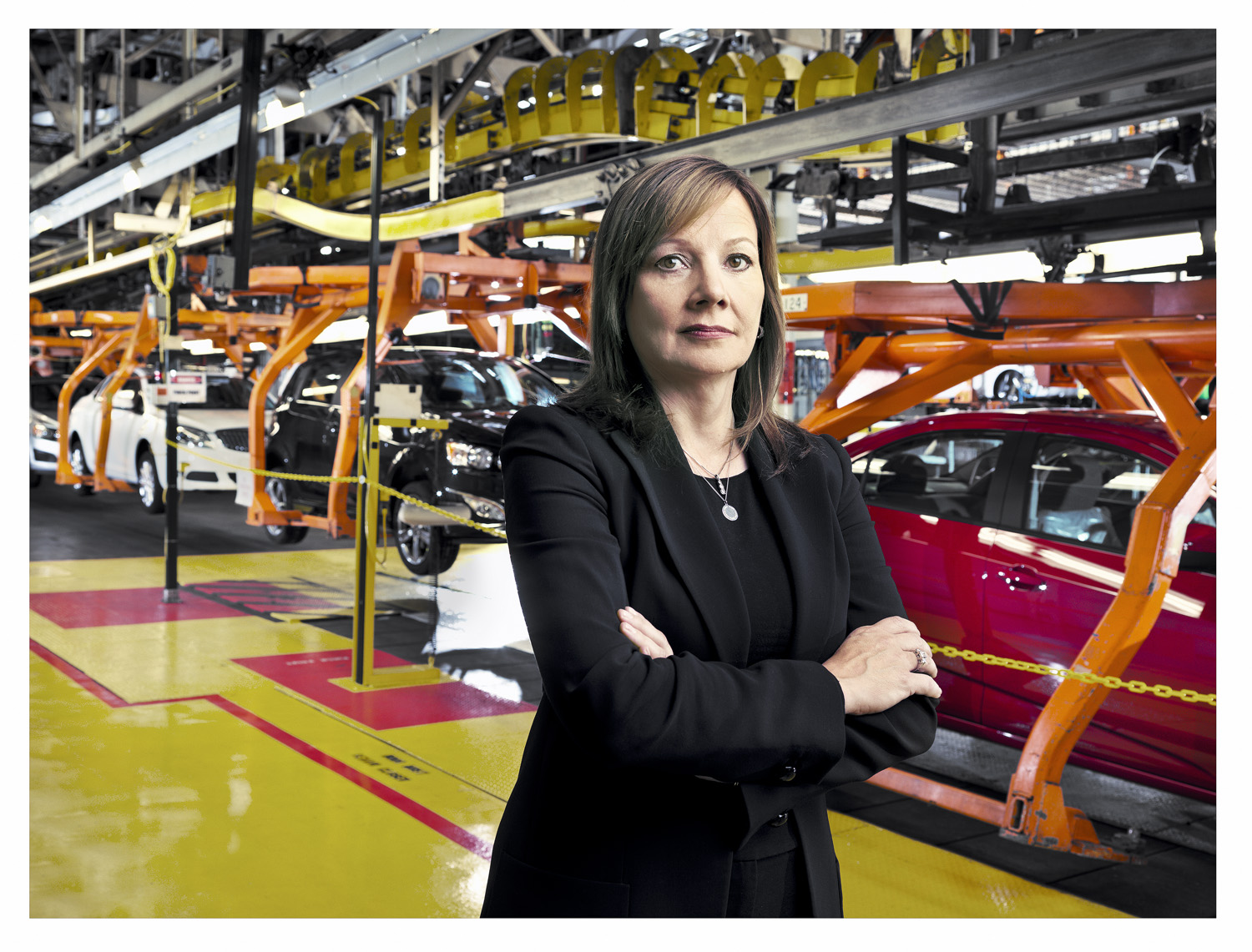Barra, a former plant manager, at GM's Orion Assembly in Lake Orion, Michigan.