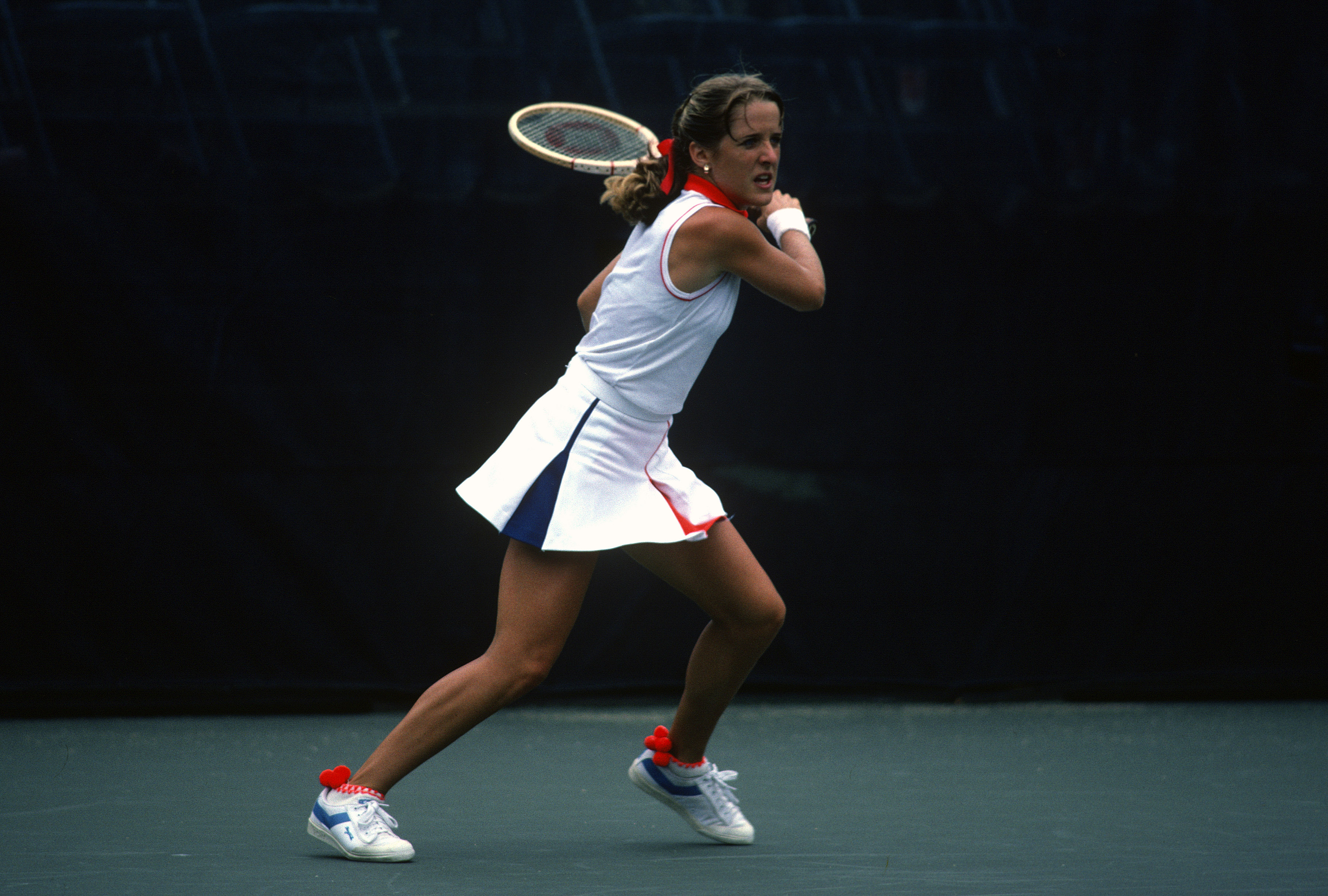 <b>Tracy Austin</b> In 1979, 16-year-old Tracy Austin became the youngest player ever to win the U.S. Open when she defeated four-time defending champion Chris Evert 6-4, 6-3. Austin's deep and unerring ground strokes led her to the title at Flushing Meadows again in 1981, and despite recurring sciatica, she intermittently held the No. 1 ranking.