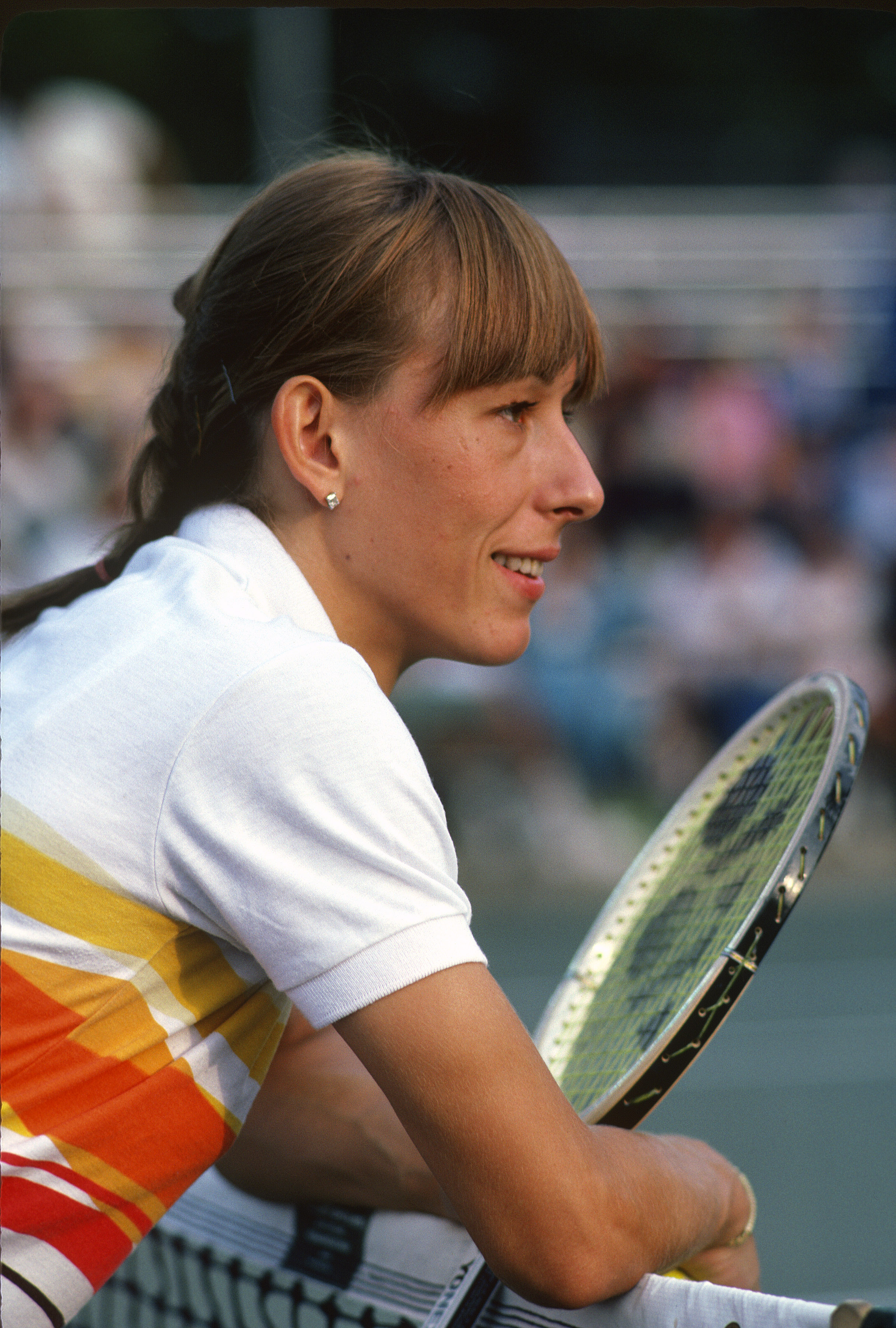 <b>Martina Navratilova</b> Born in Prague, Martina Navratilova wanted to conquer the tennis world, and she knew she had a better shot at doing that in the U.S. than in communist Czechoslovakia. So during the 1975 U.S. Open, American authorities helped her defect, the Czech government subsequently stripped her of her citizenship, and she went on to dominate women's tennis, winning 18 Grand Slam singles titles.