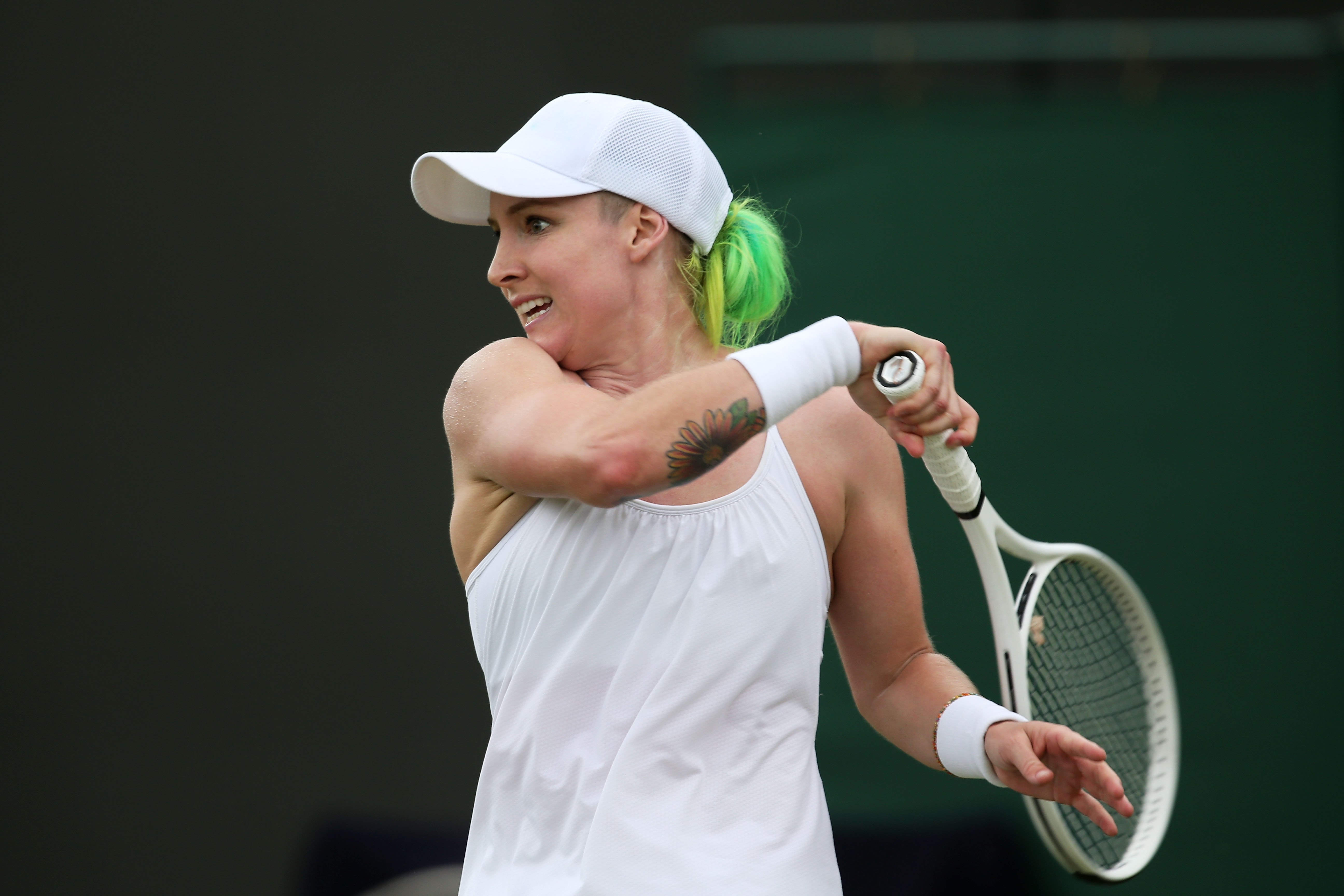 "<b>Bethanie Mattek-Sands</b> Fellow players have dubbed her the ""rock chick"" of tennis because of her tattoos and penchant for motorcycles and the fact that she wore a black dress to her wedding. The 29-year-old brings her free-spirited ways to the court, where she wears knee-high socks and black antiglare paint."