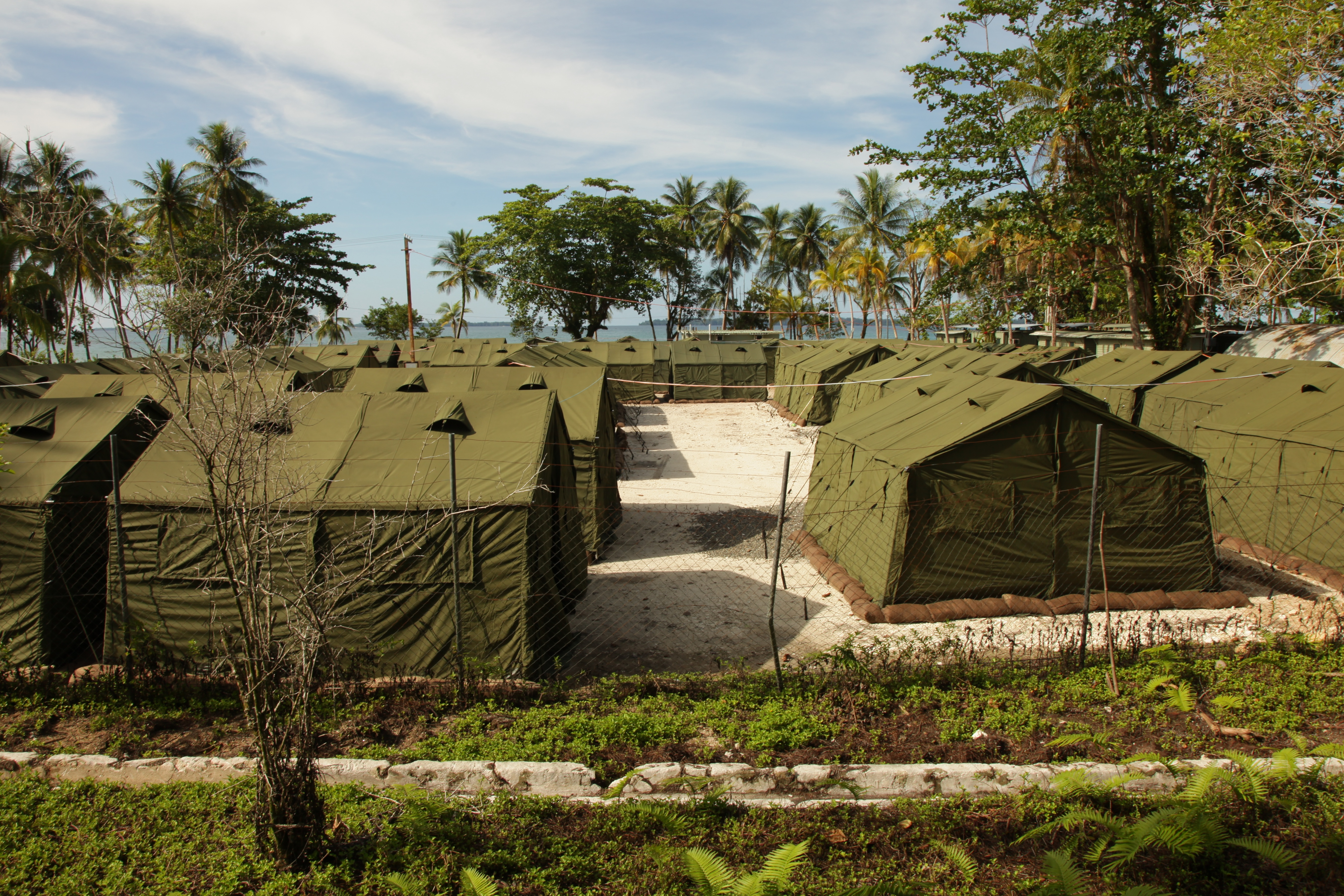 This handout photo provided by the Australian Department of Immigration and Citizenship, shows facilities at the Manus Island Regional Processing Facility, used for the detention of asylum seekers that arrive by boat, primarily to Christmas Island off the Australian mainland, on October 16, 2012, in Papua New Guinea.