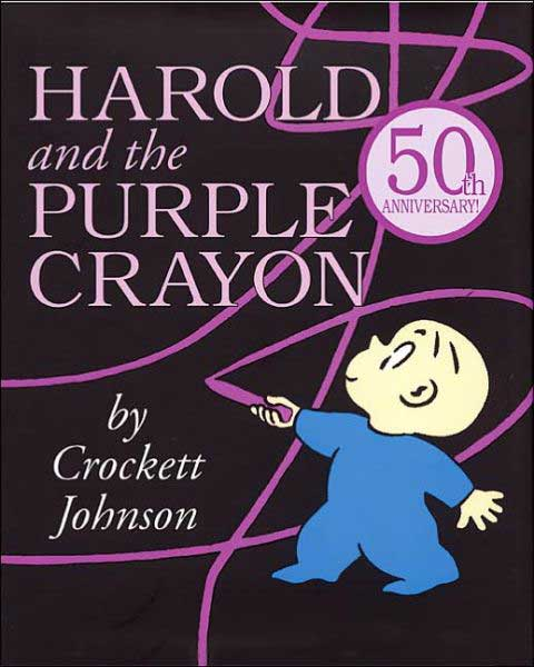 Harold and the Purple Crayon, by Crockett Johnson.                                                                                                                            A creative boy crafts entire worlds of his own devising, using only his trusty crayon.                                                                                                                            Buy now: Harold and the Purple Crayon