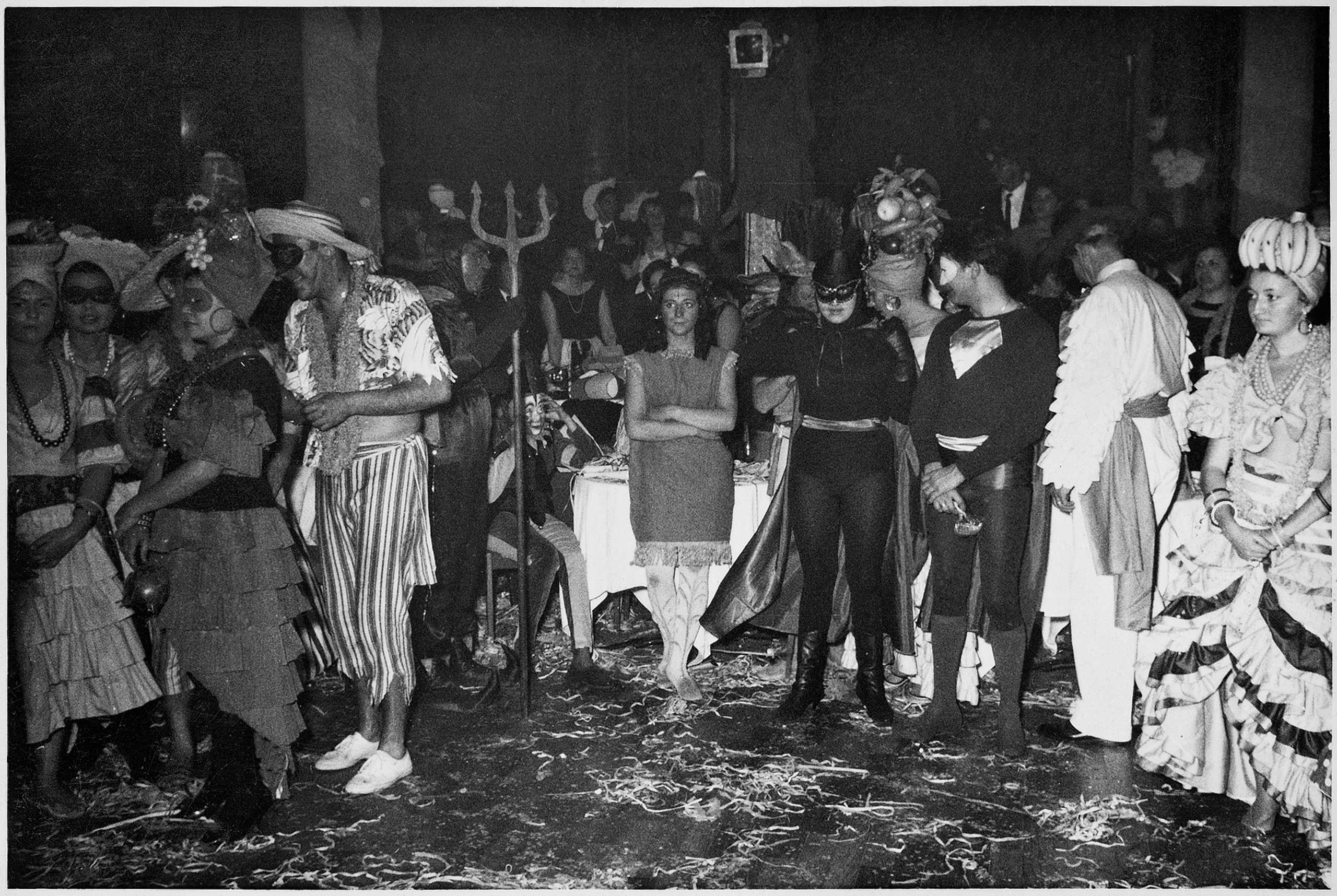 One of the many costume parties at the Uaddan Hotel